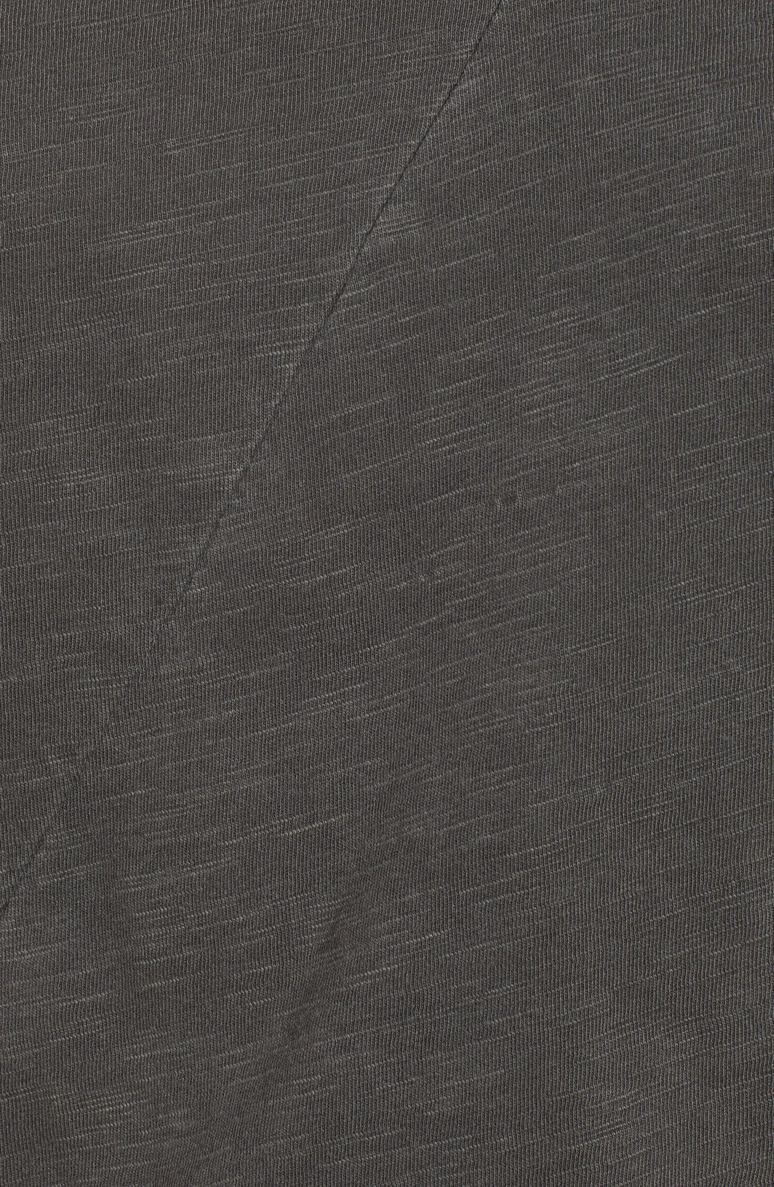 Lace-Up Shoulder Cotton Tee,                             Alternate thumbnail 6, color,                             Black Mountain