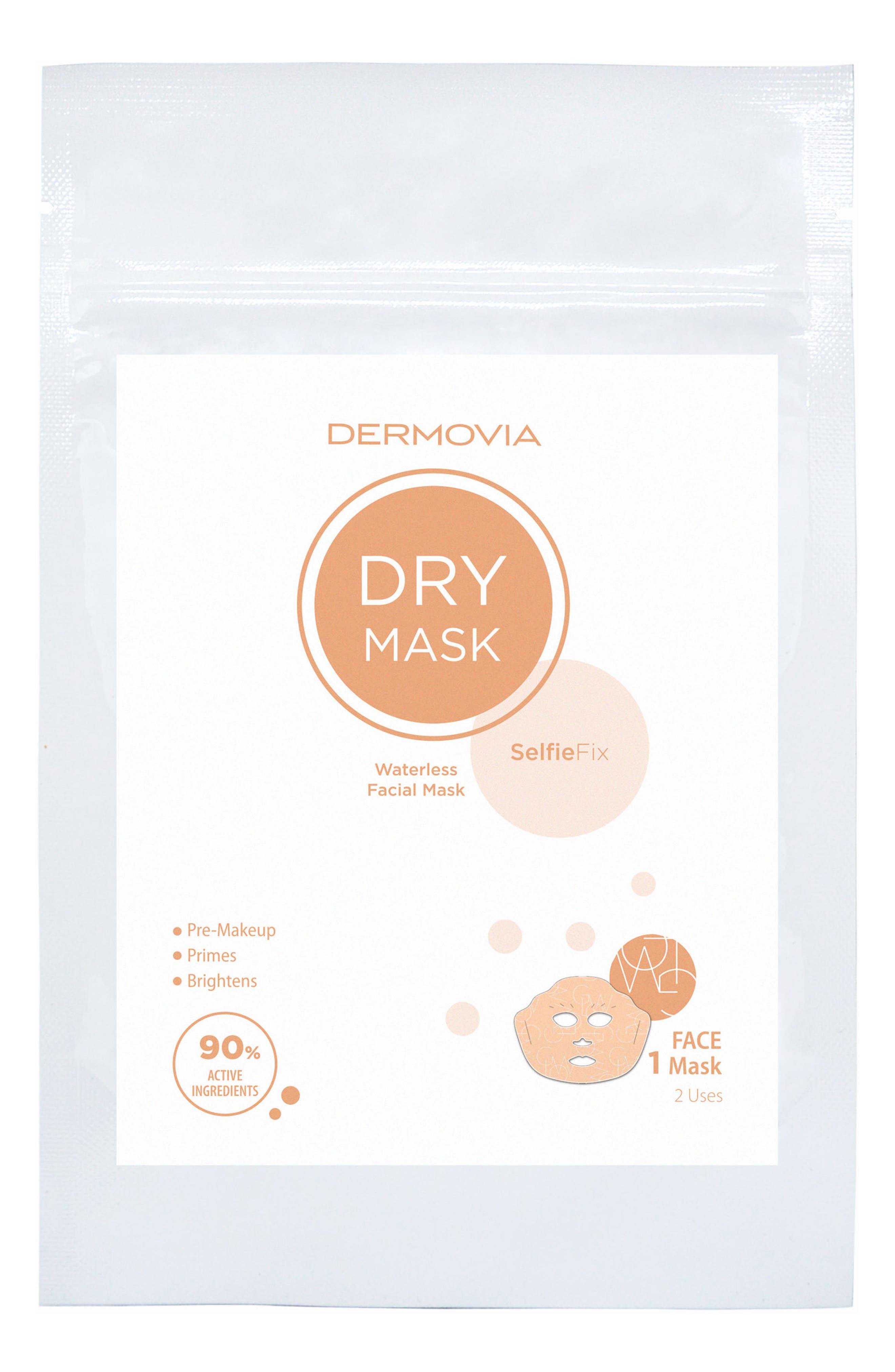 DRY Mask SelfieFix Waterless Facial Mask,                             Main thumbnail 1, color,                             No Color