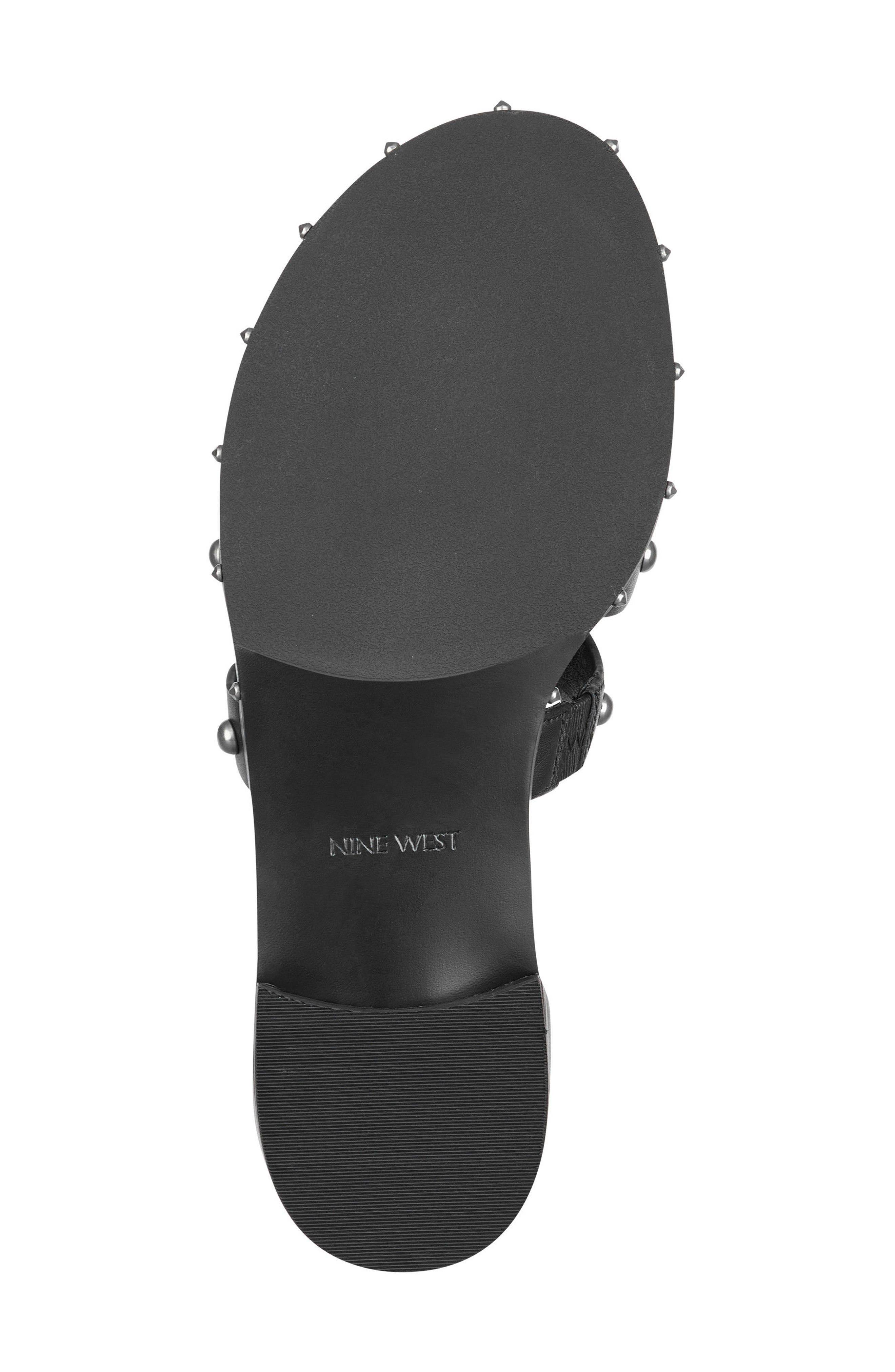 Corisande Sandal,                             Alternate thumbnail 6, color,                             White/ Black Leather