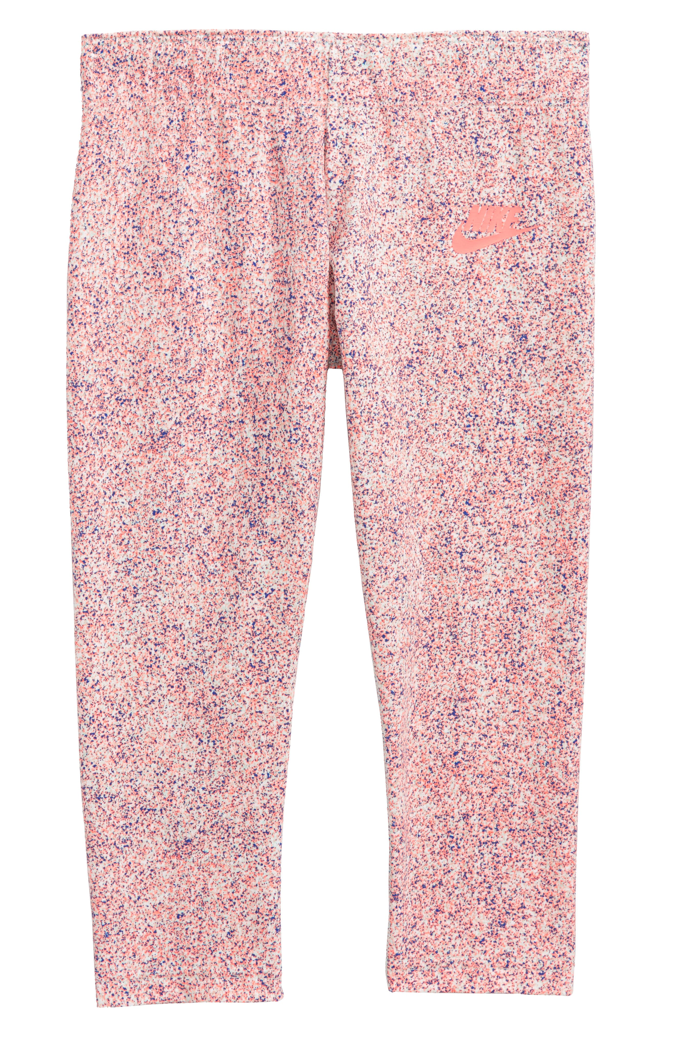Nike Sportswear AOP Crop Leggings (Big Girls)