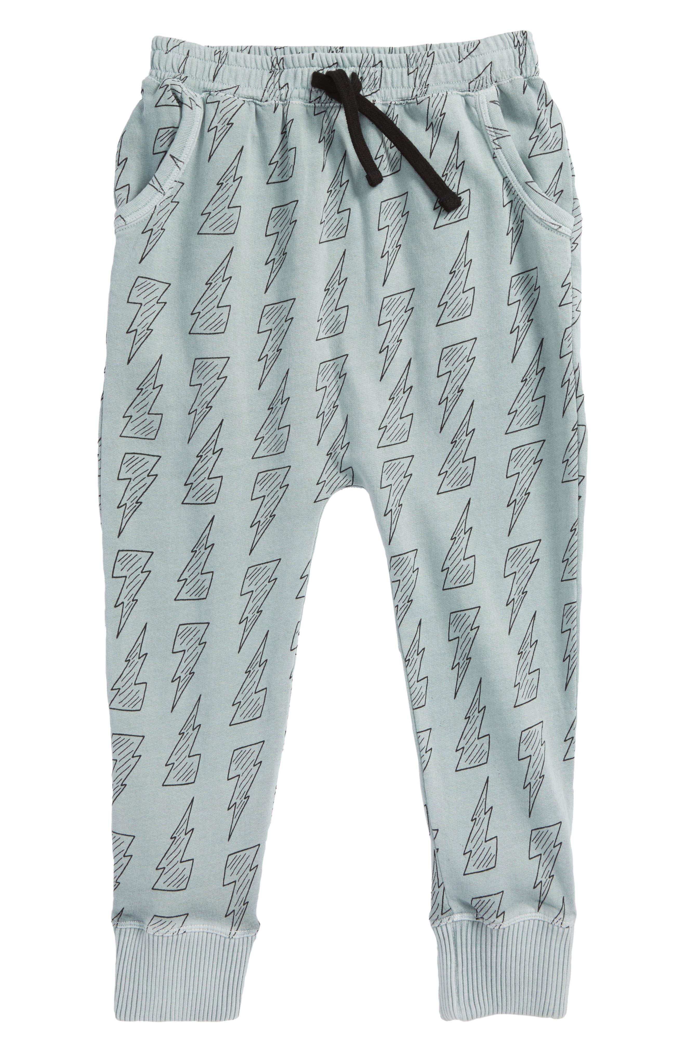 Lightning Bolt Print Jogger Pants,                         Main,                         color, Grey Quarry Bolts