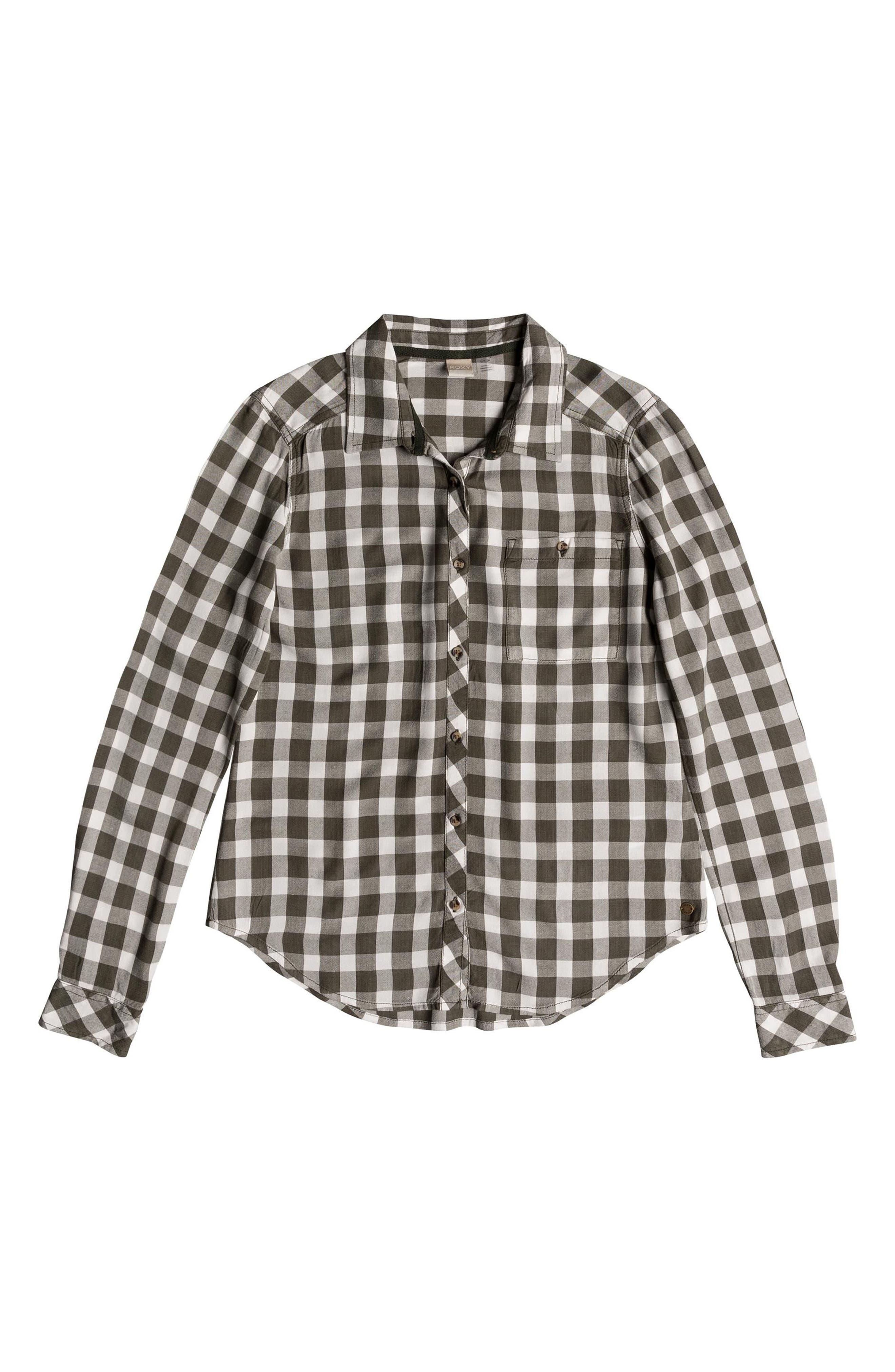 Capital Dream Check Shirt,                             Alternate thumbnail 4, color,                             Thyme Northy Plaid
