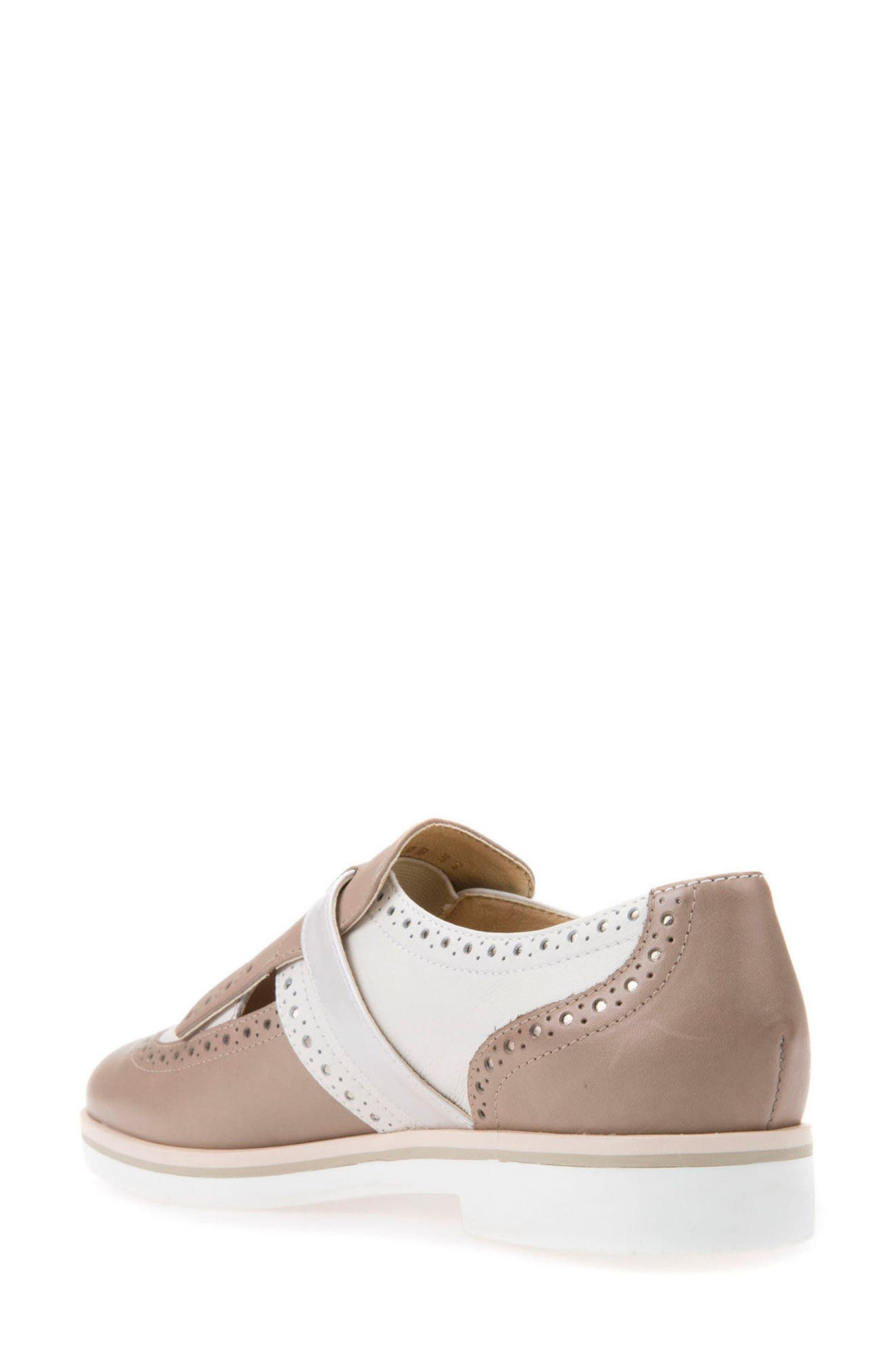 Janalee Cutout Loafer,                             Alternate thumbnail 2, color,                             Sand Leather