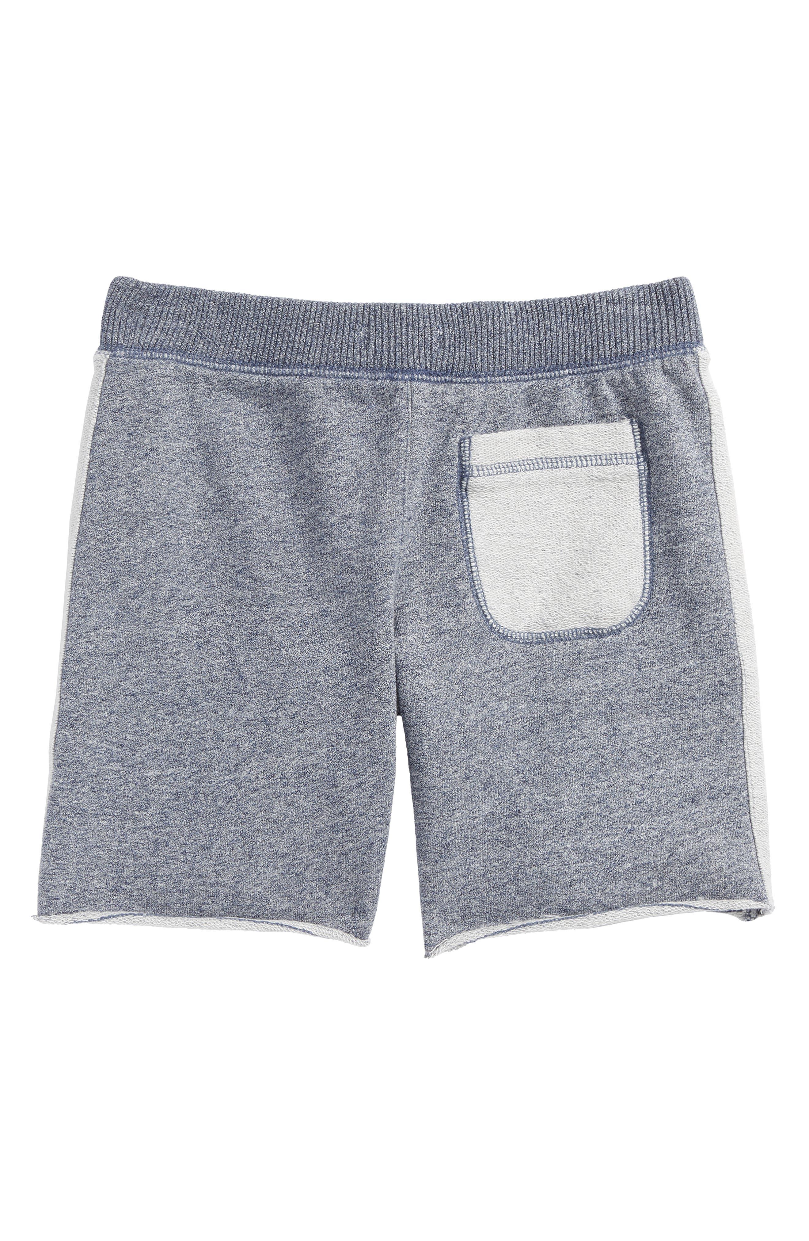 Fleece Shorts,                             Alternate thumbnail 2, color,                             Navy Denim