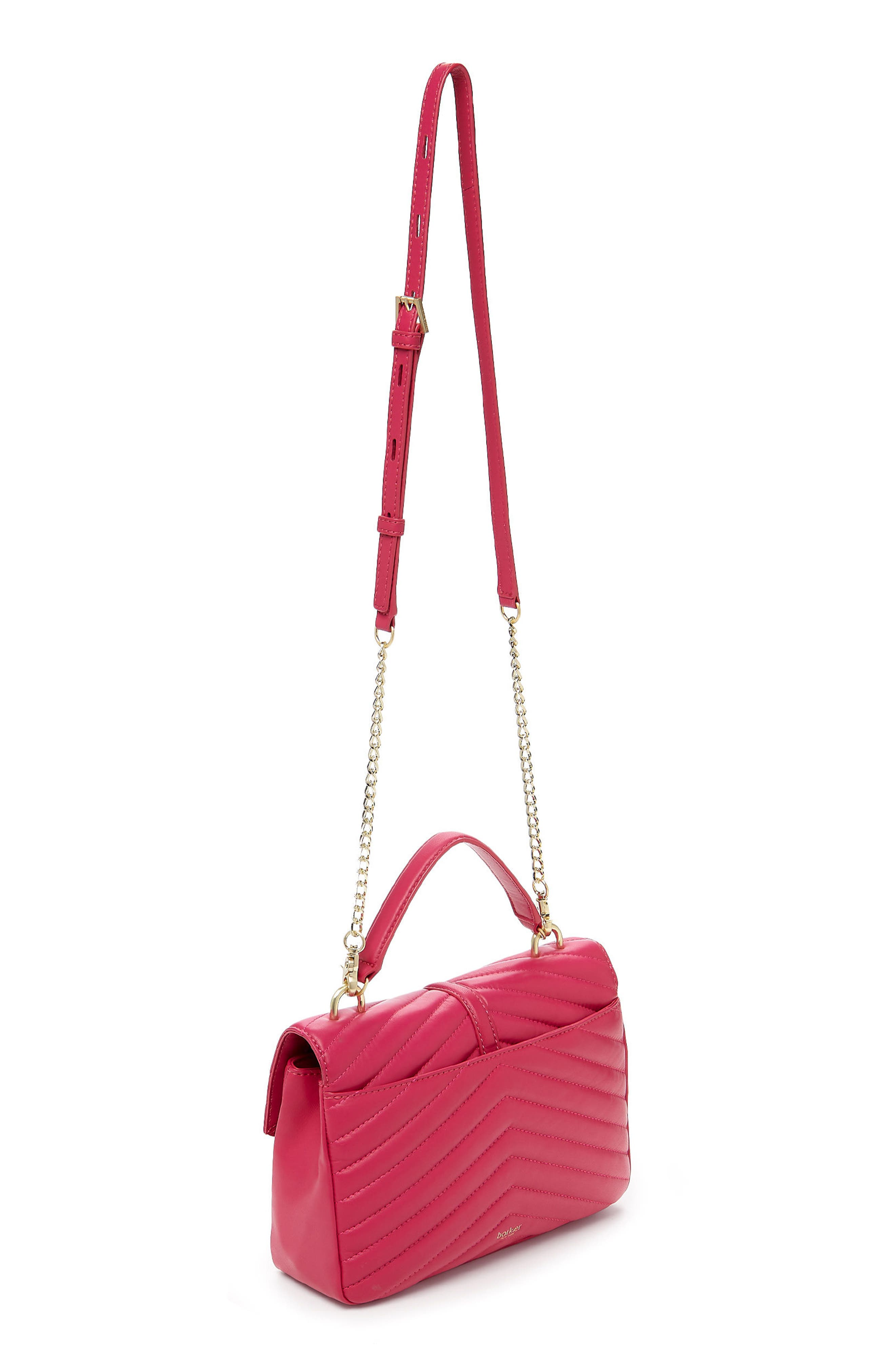 Dakota Quilted Leather Top Handle Bag,                             Alternate thumbnail 2, color,                             Pink