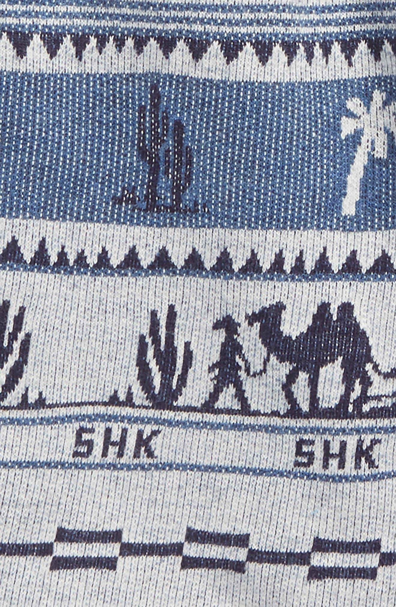 Print Knit Shorts,                             Alternate thumbnail 2, color,                             Blue