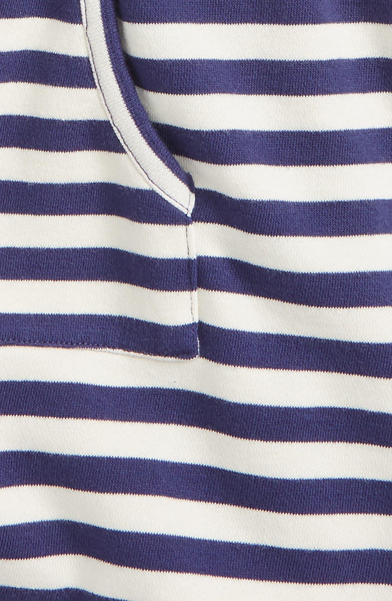 Stripe Skort,                             Alternate thumbnail 2, color,                             Navy Ribbon- Ivory Stripe