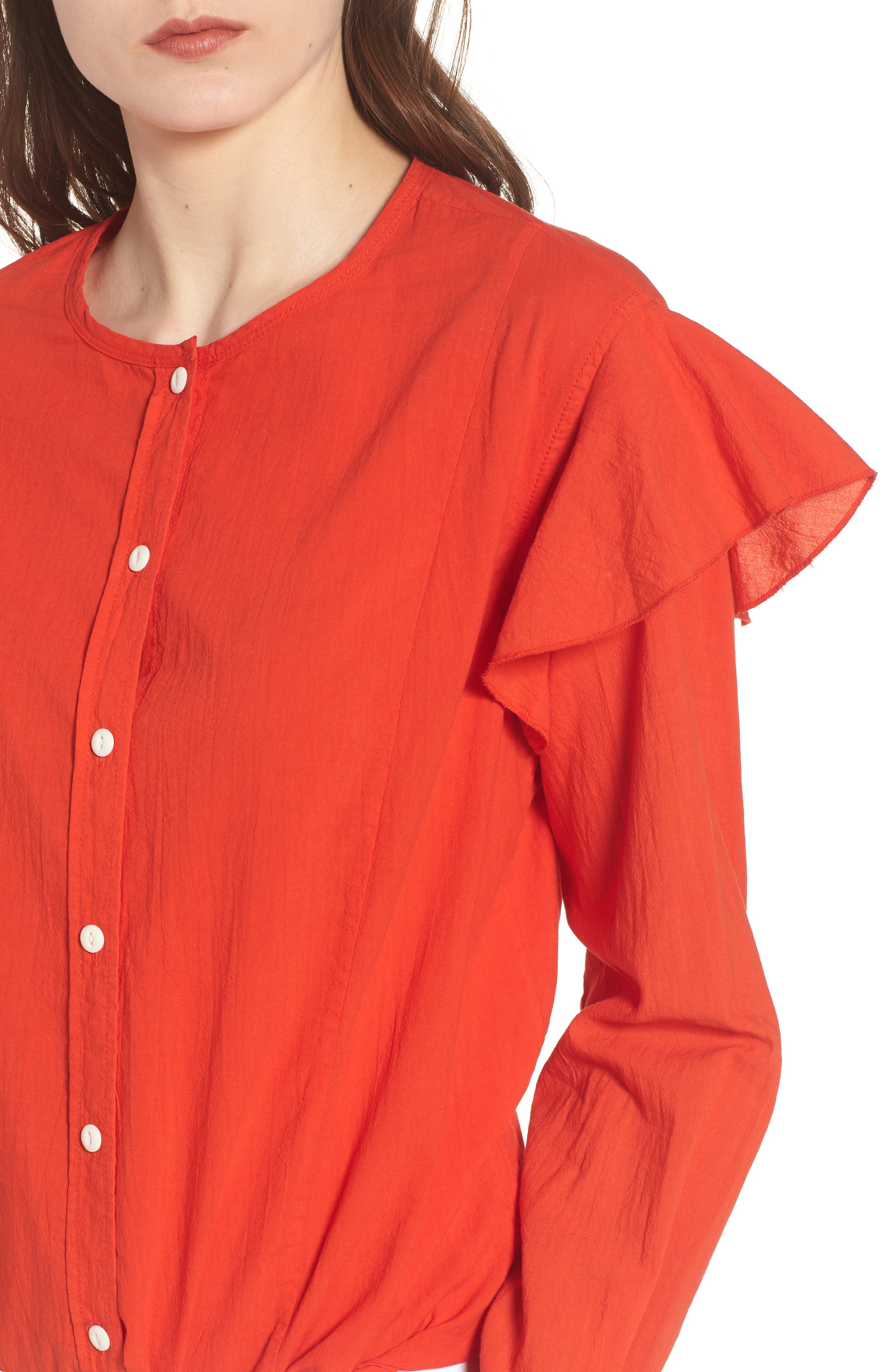 The Asley Shirt,                             Alternate thumbnail 4, color,                             Poinciana