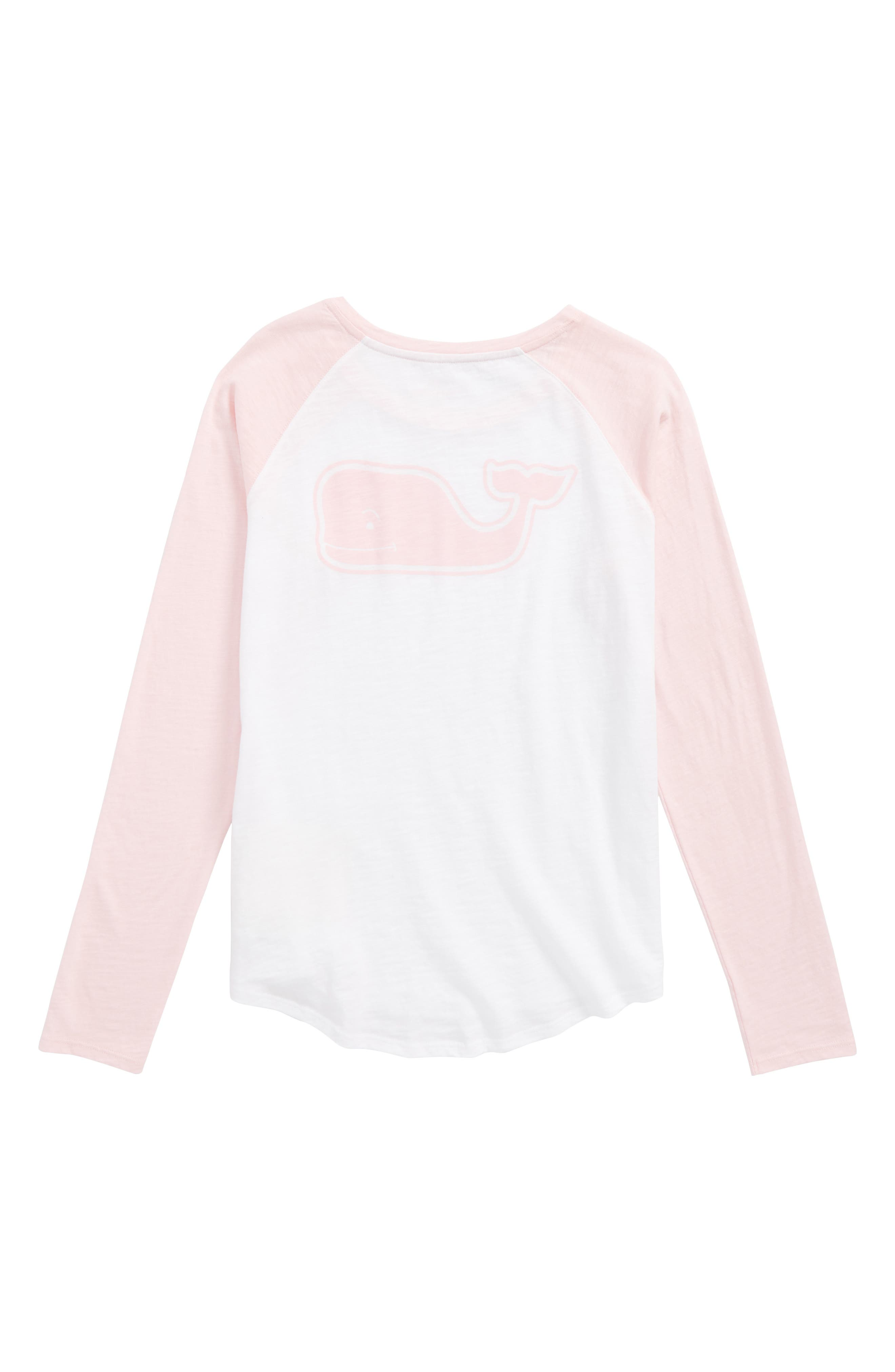 Raglan Whale Graphic Tee,                             Alternate thumbnail 2, color,                             Flamingo