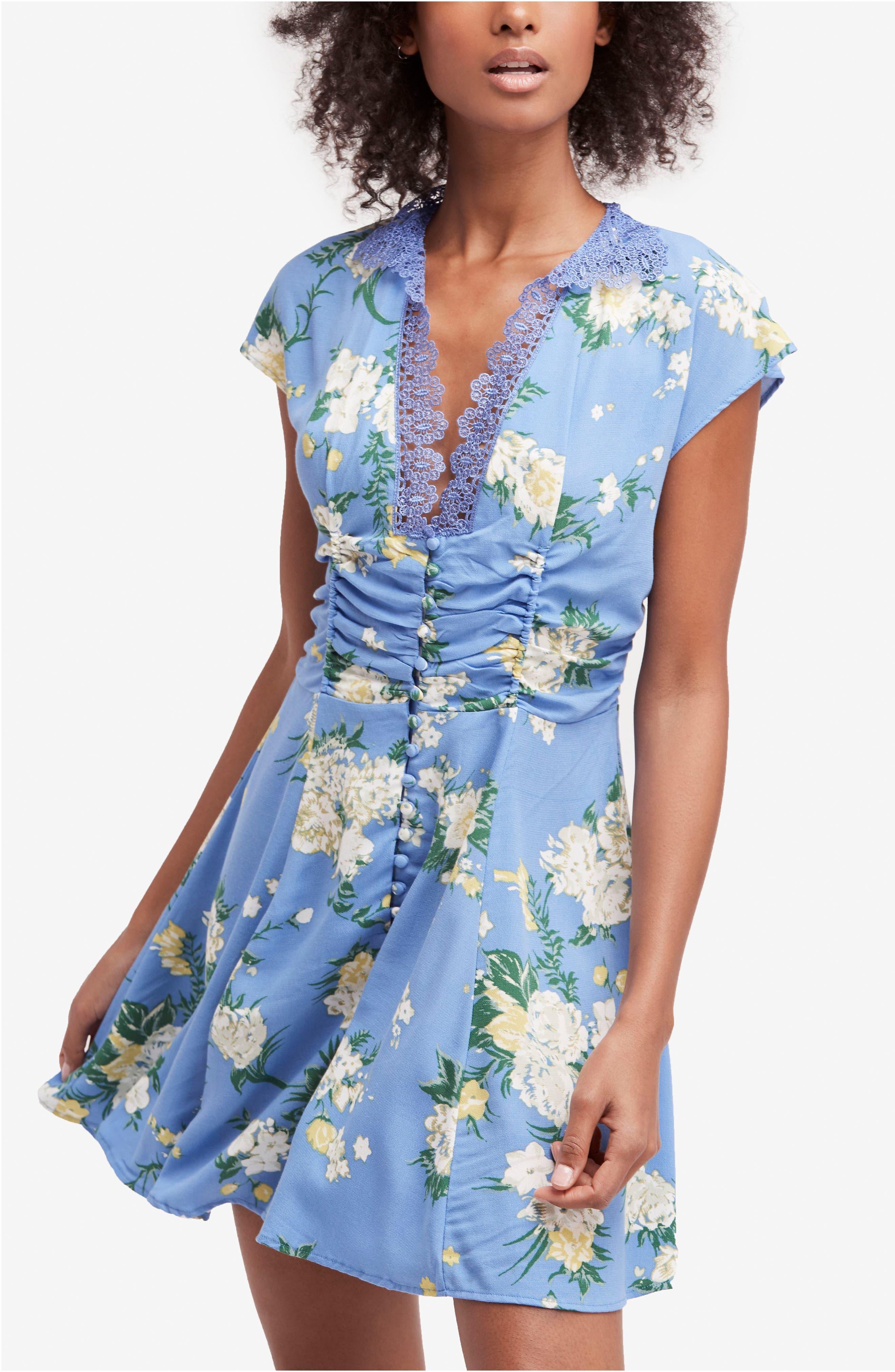 Alora Minidress,                             Main thumbnail 1, color,                             Blue Combo