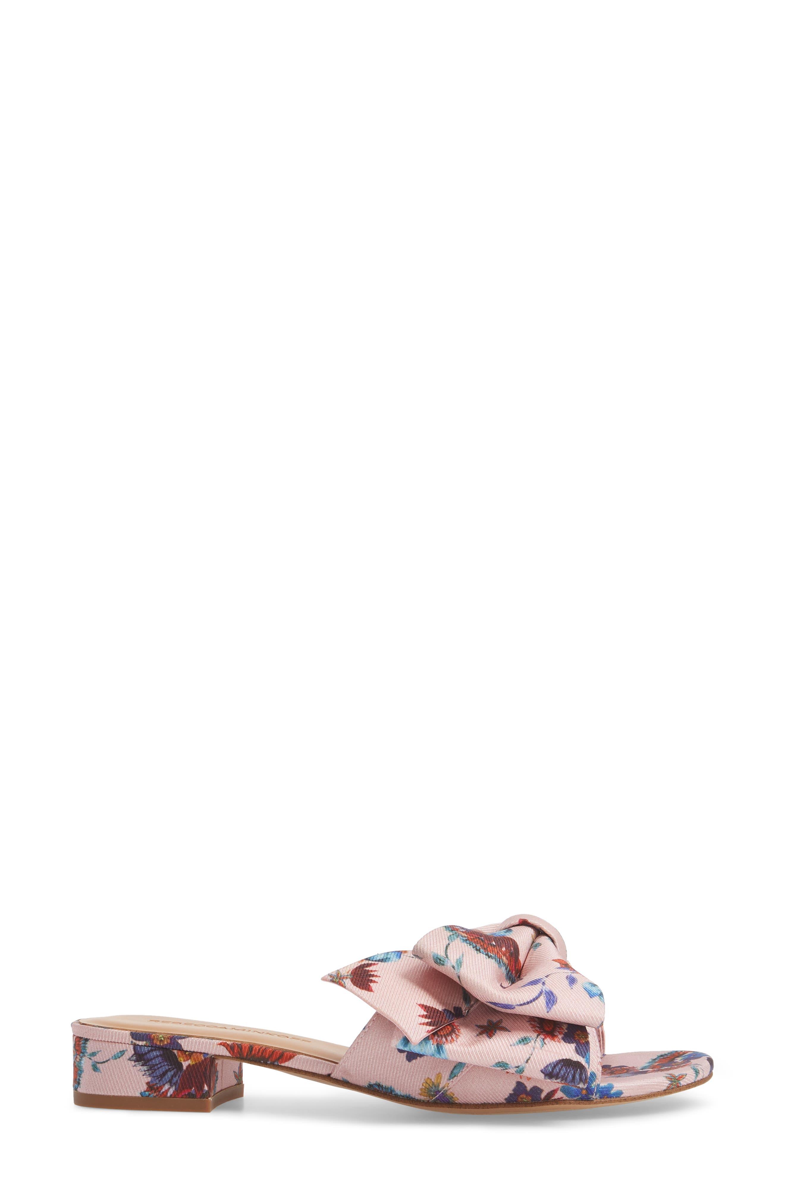 Calista Slide Sandal,                             Alternate thumbnail 3, color,                             Millennial Pink Multi Fabric