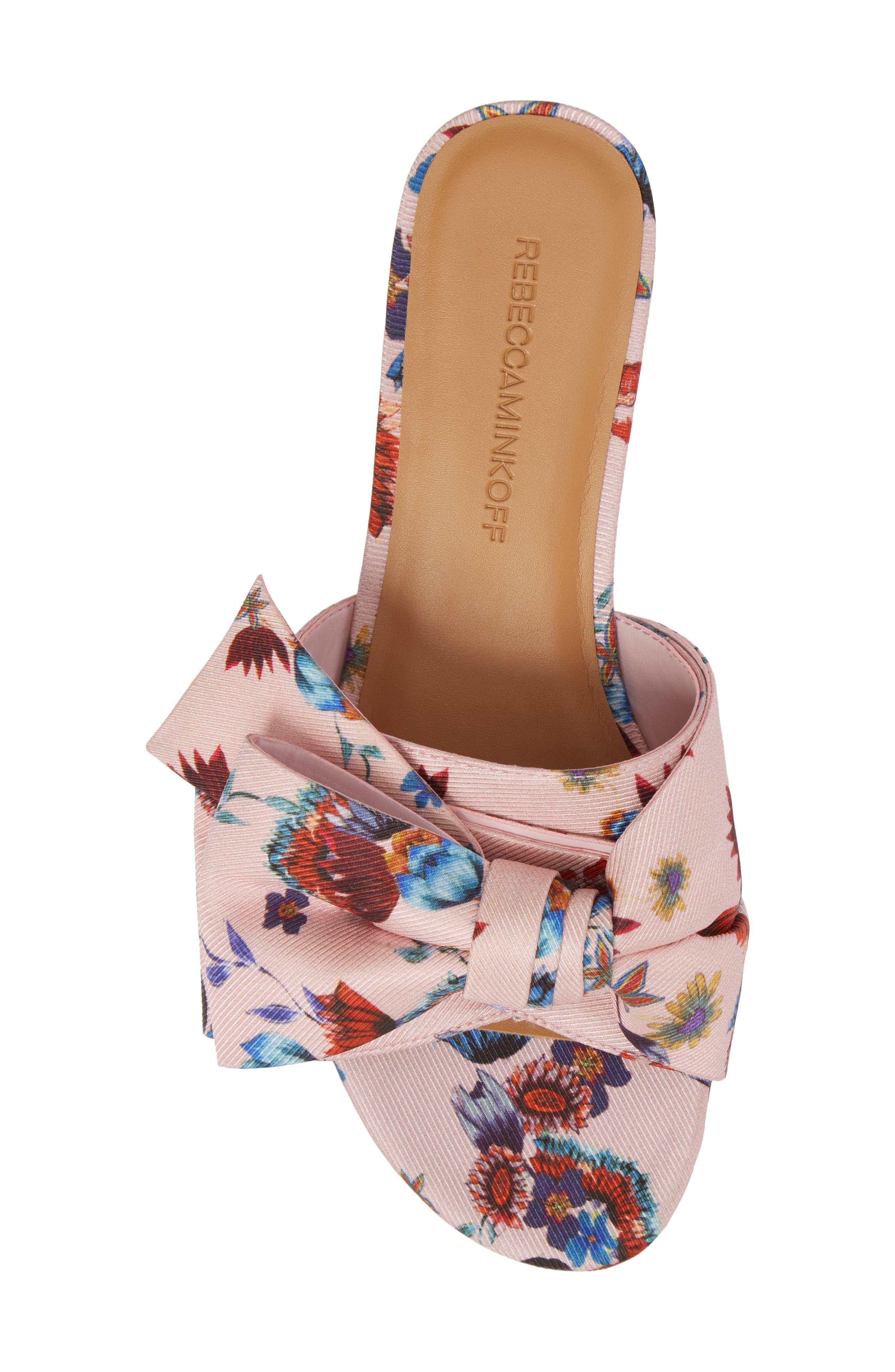 Calista Slide Sandal,                             Alternate thumbnail 5, color,                             Millennial Pink Multi Fabric