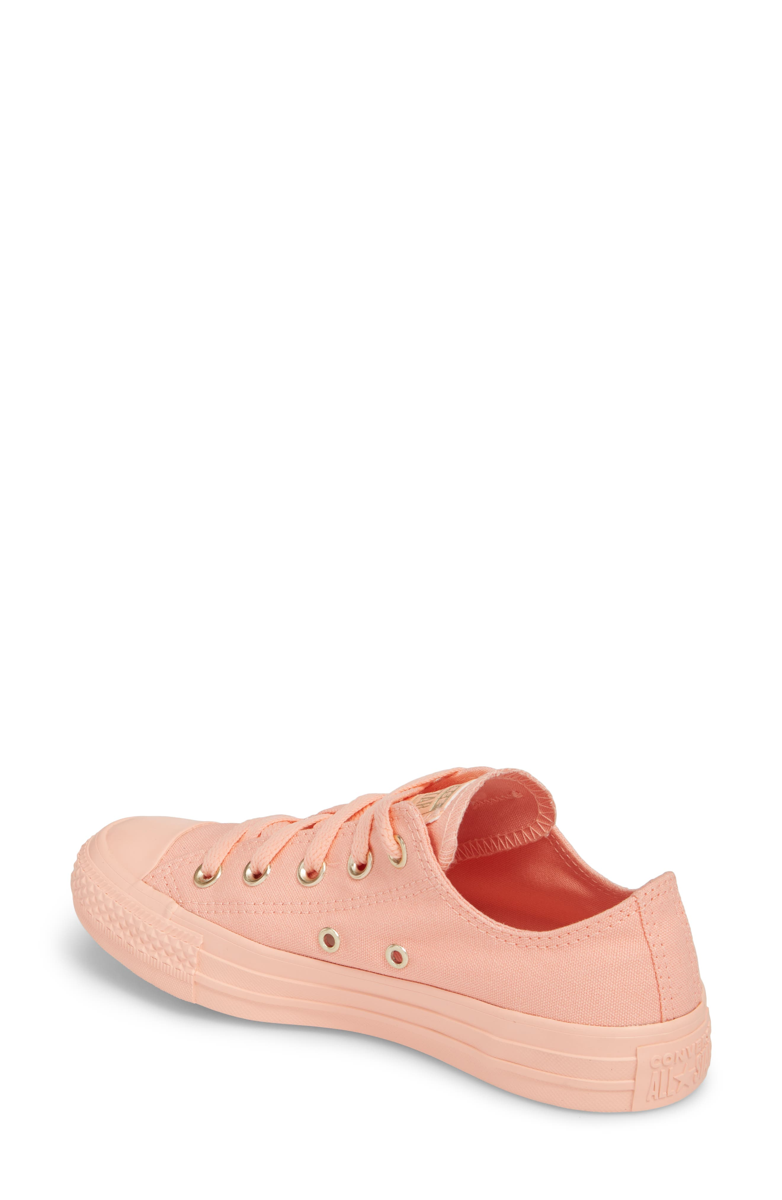 Chuck Taylor<sup>®</sup> All Star<sup>®</sup> Seasonal Color Sneaker,                             Alternate thumbnail 2, color,                             Pale Coral
