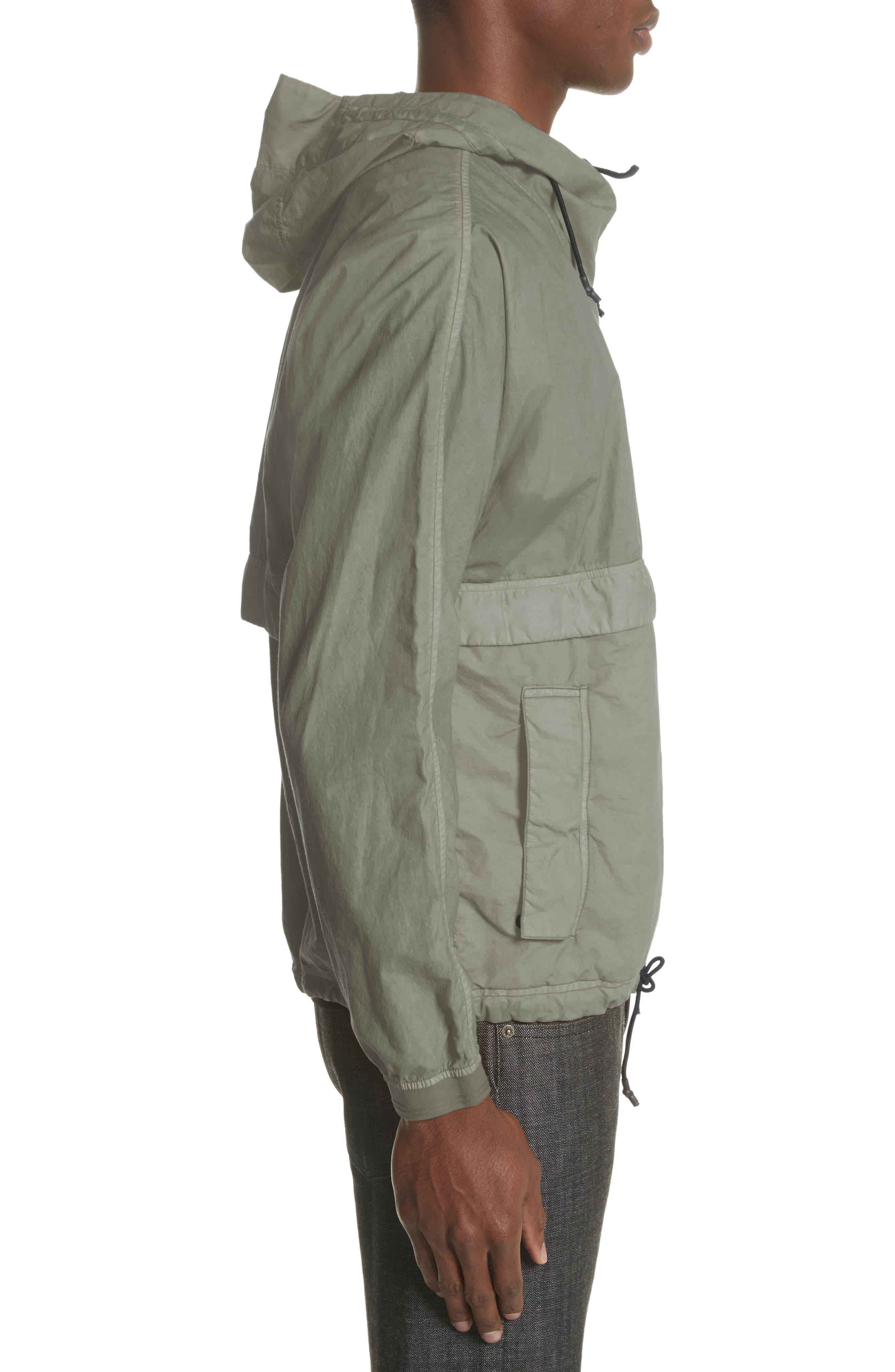 Poplin Hooded Jacket,                             Alternate thumbnail 3, color,                             Green
