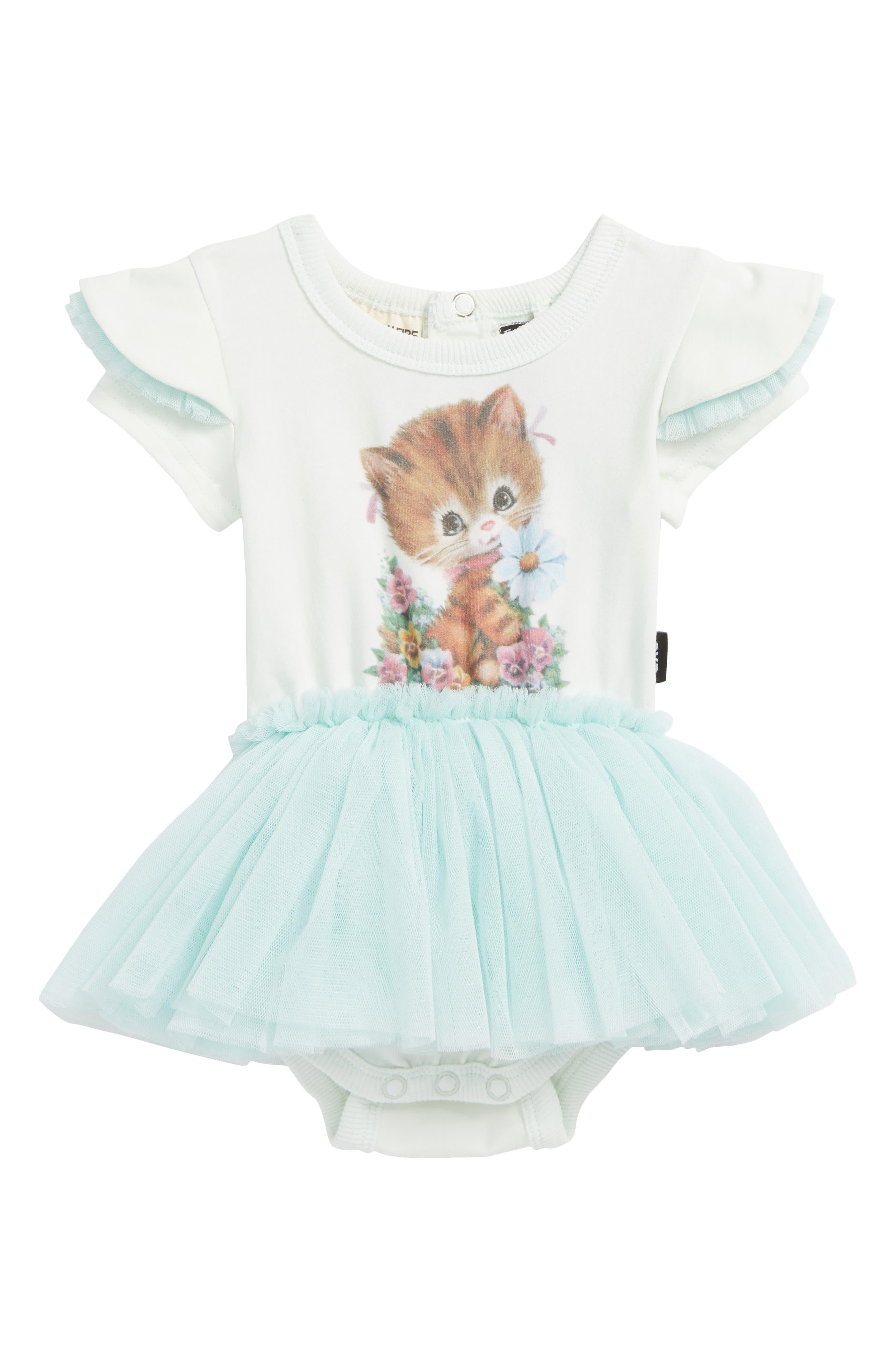 Rock Your Baby Kitty Kat Circus Bodysuit Dress (Baby Girls)