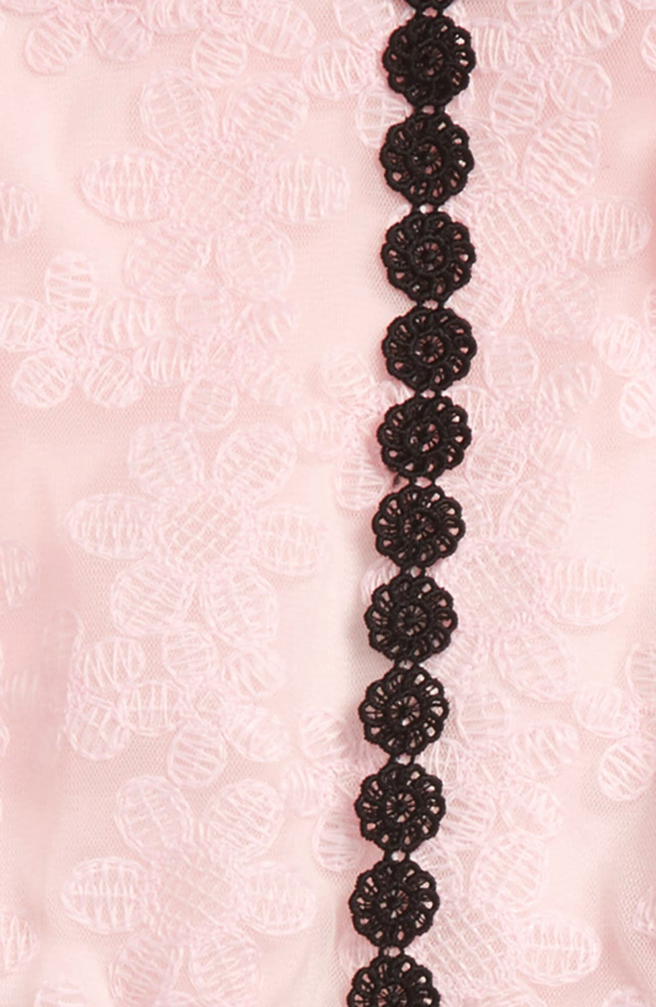 floral mesh tunic & leggings set,                             Alternate thumbnail 2, color,                             Sonata Pink