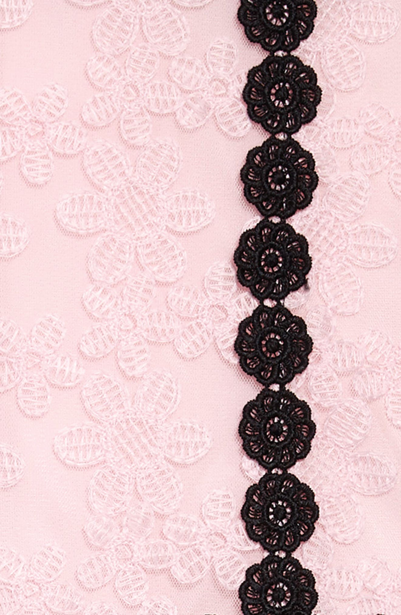 floral mesh sleeveless dress,                             Alternate thumbnail 3, color,                             Sonata Pink