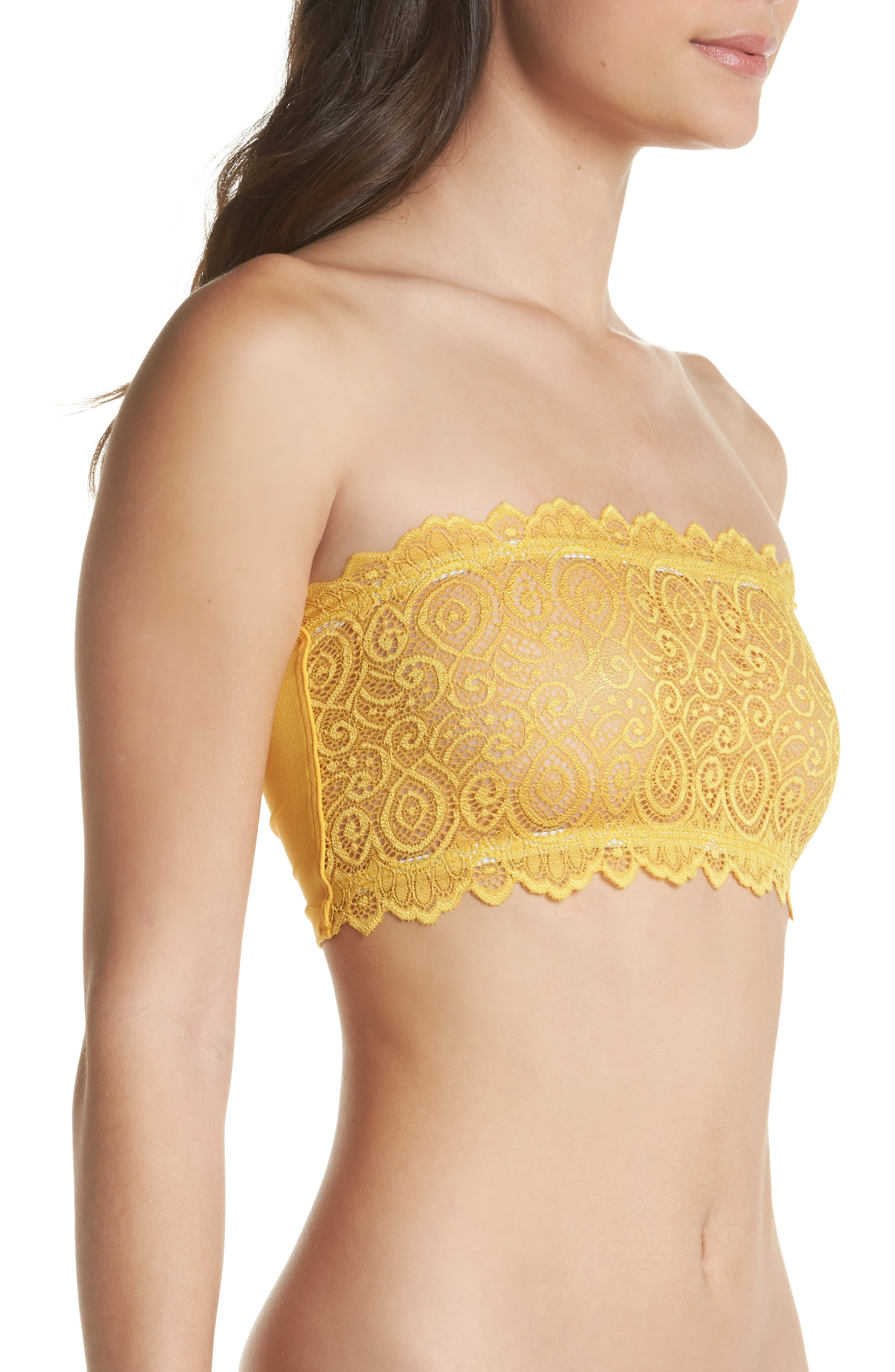 Intimately FP Lace Reversible Seamless Bandeau,                             Alternate thumbnail 3, color,                             Gold