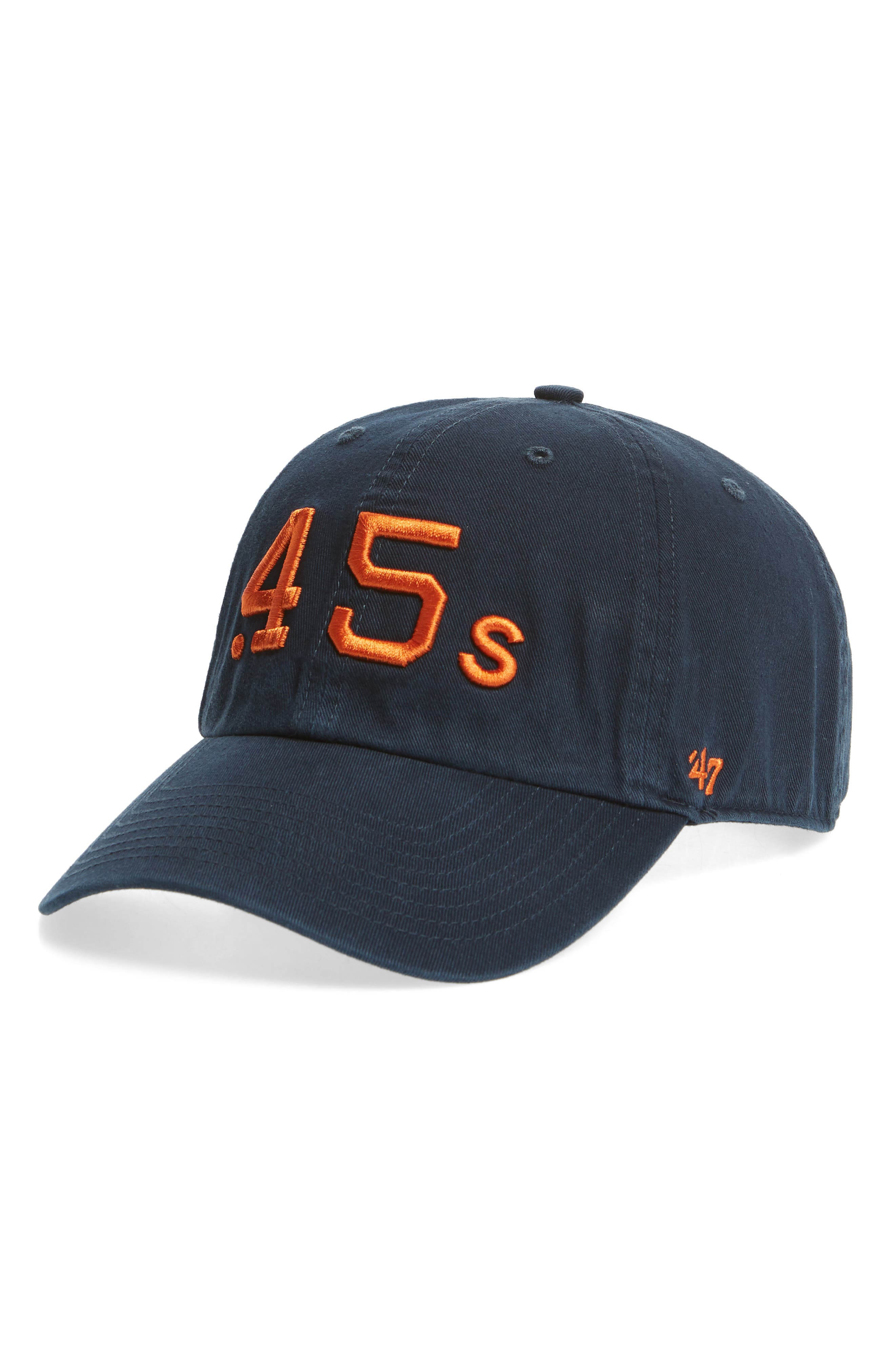 Clean Up Houston Astros Baseball Cap,                         Main,                         color, Navy
