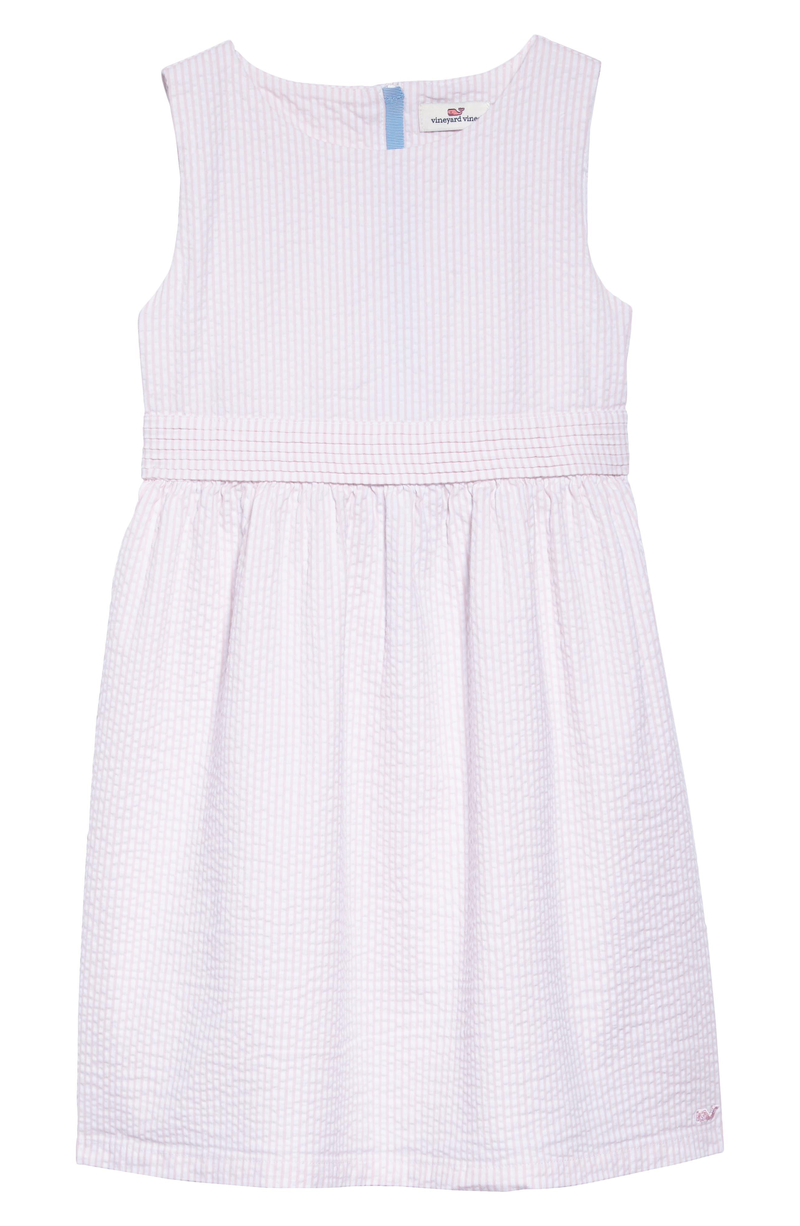 vineyard vines Seersucker Dress (Toddler Girls, Little Girls & Big Girls)