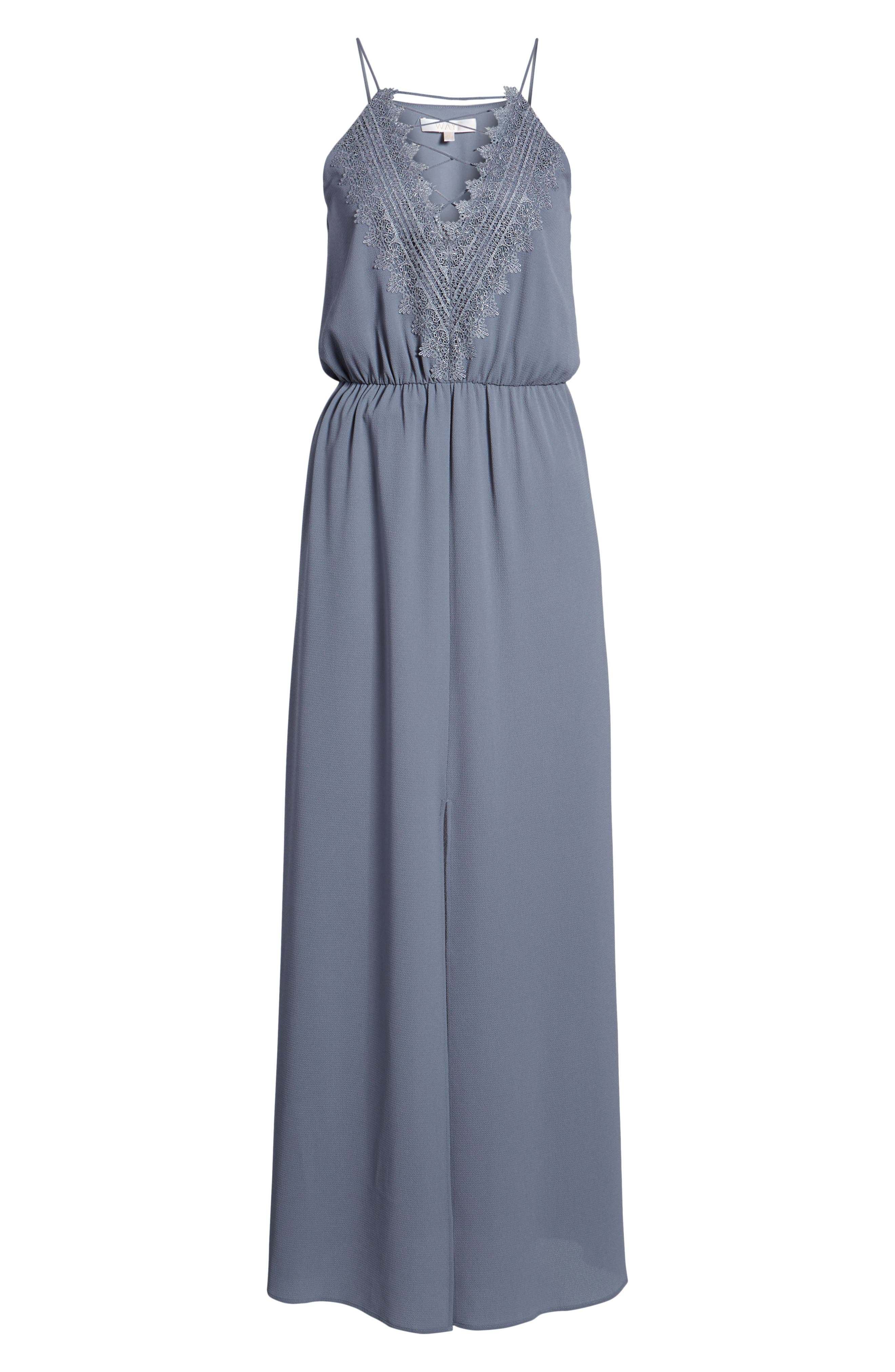 Posie Maxi Dress,                             Alternate thumbnail 7, color,                             Grey Grisaille