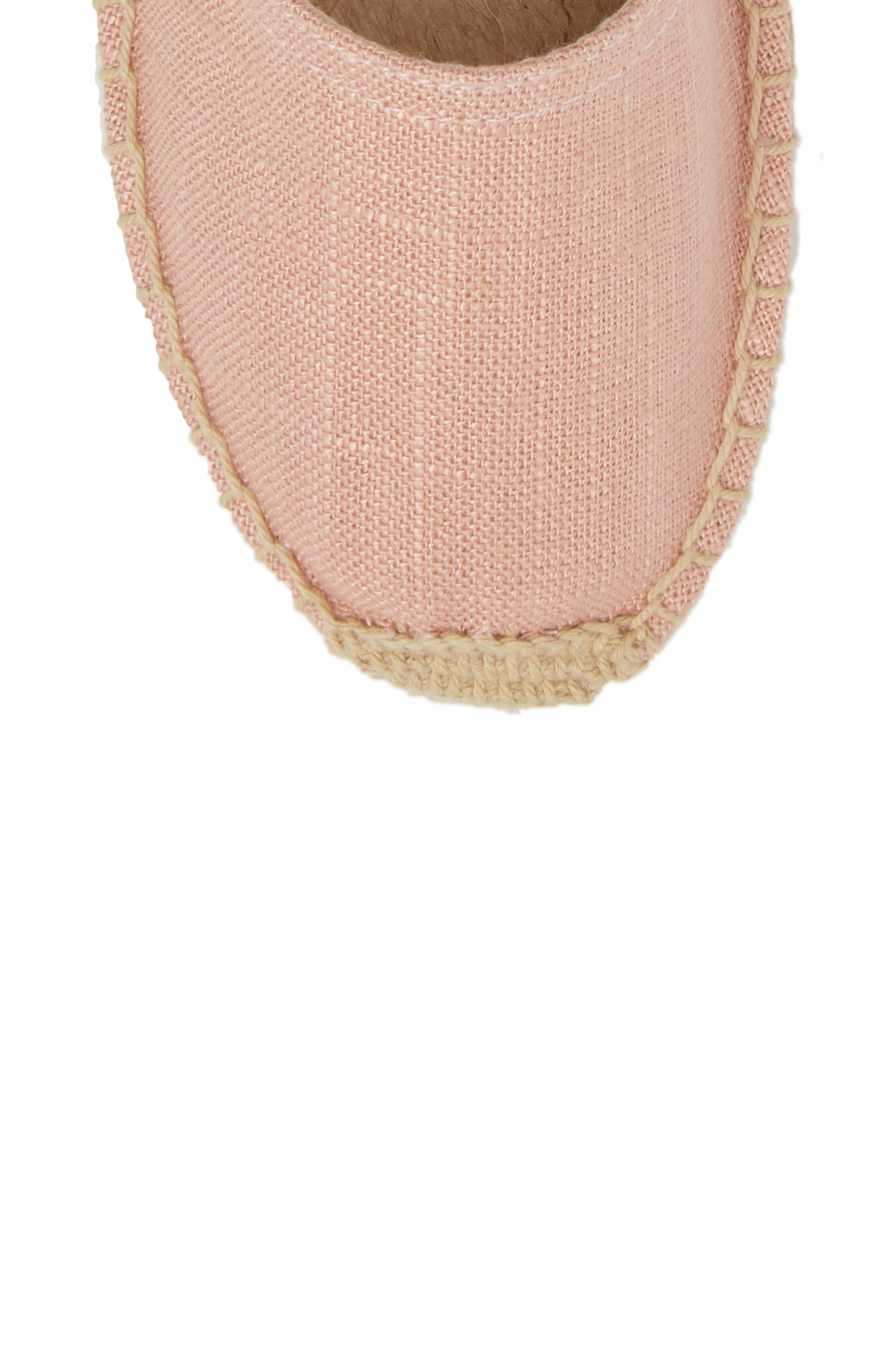 Classic Espadrille Sandal,                             Alternate thumbnail 5, color,                             Dusty Rose Fabric