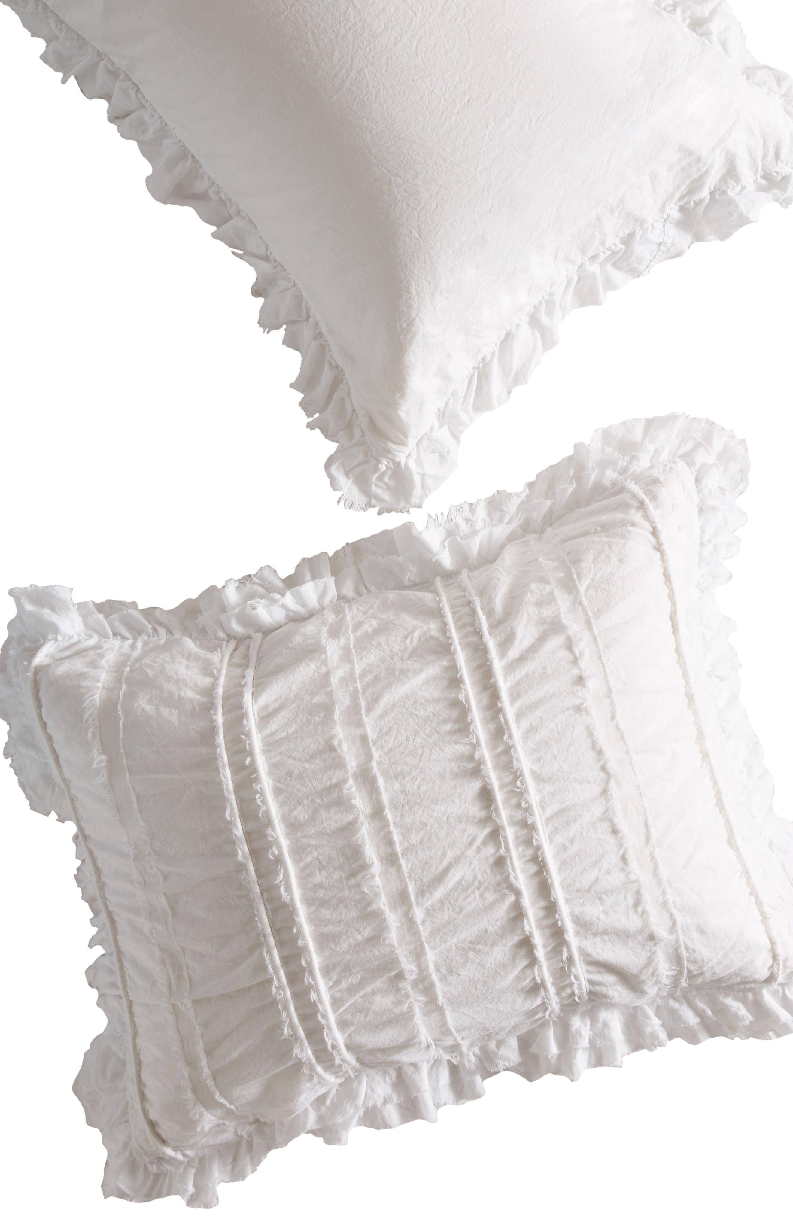 Corded Pillow Shams,                             Alternate thumbnail 2, color,                             White