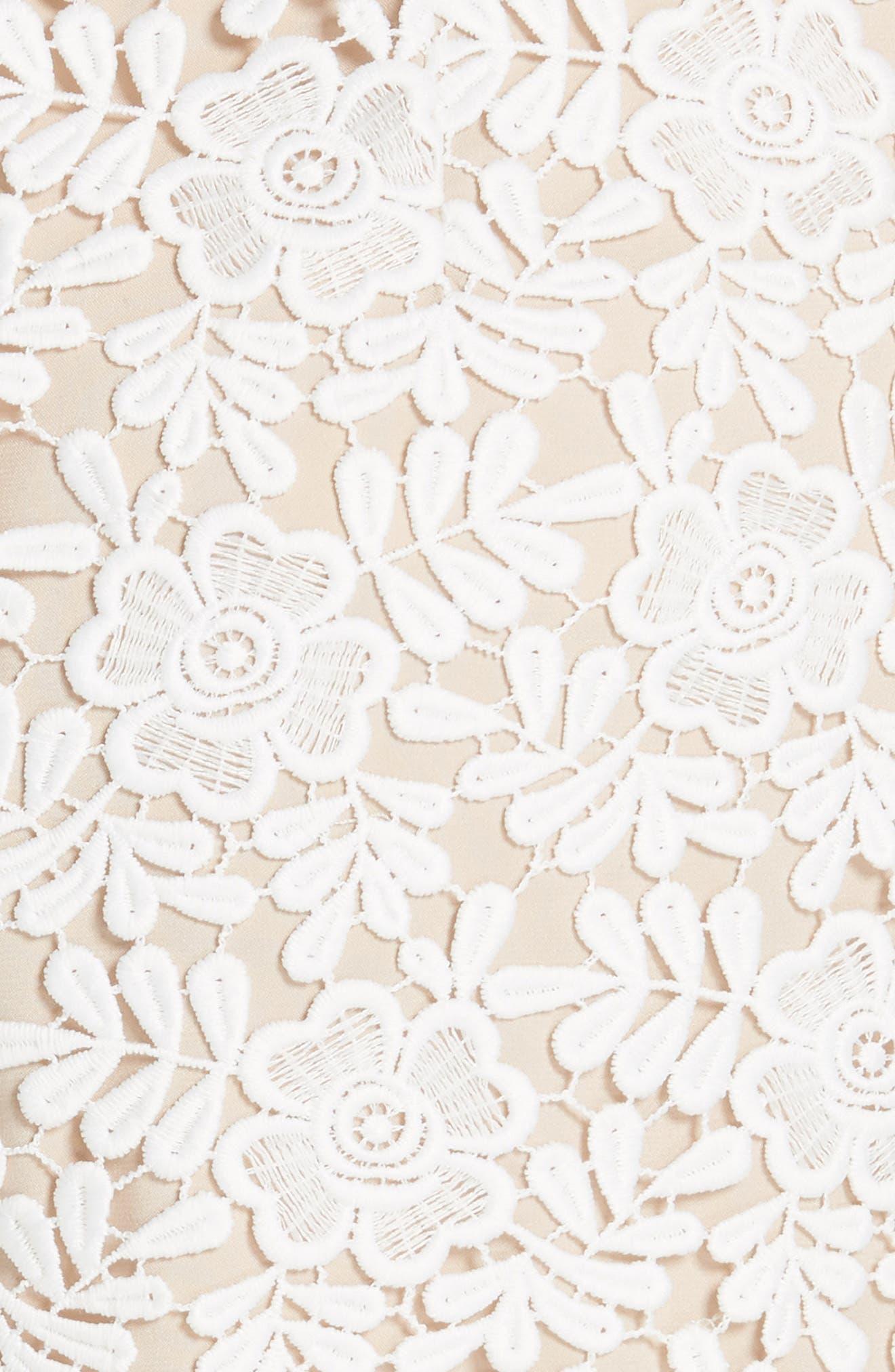 Marisa Floral Lace Shorts,                             Alternate thumbnail 5, color,                             Off White/ Sesame