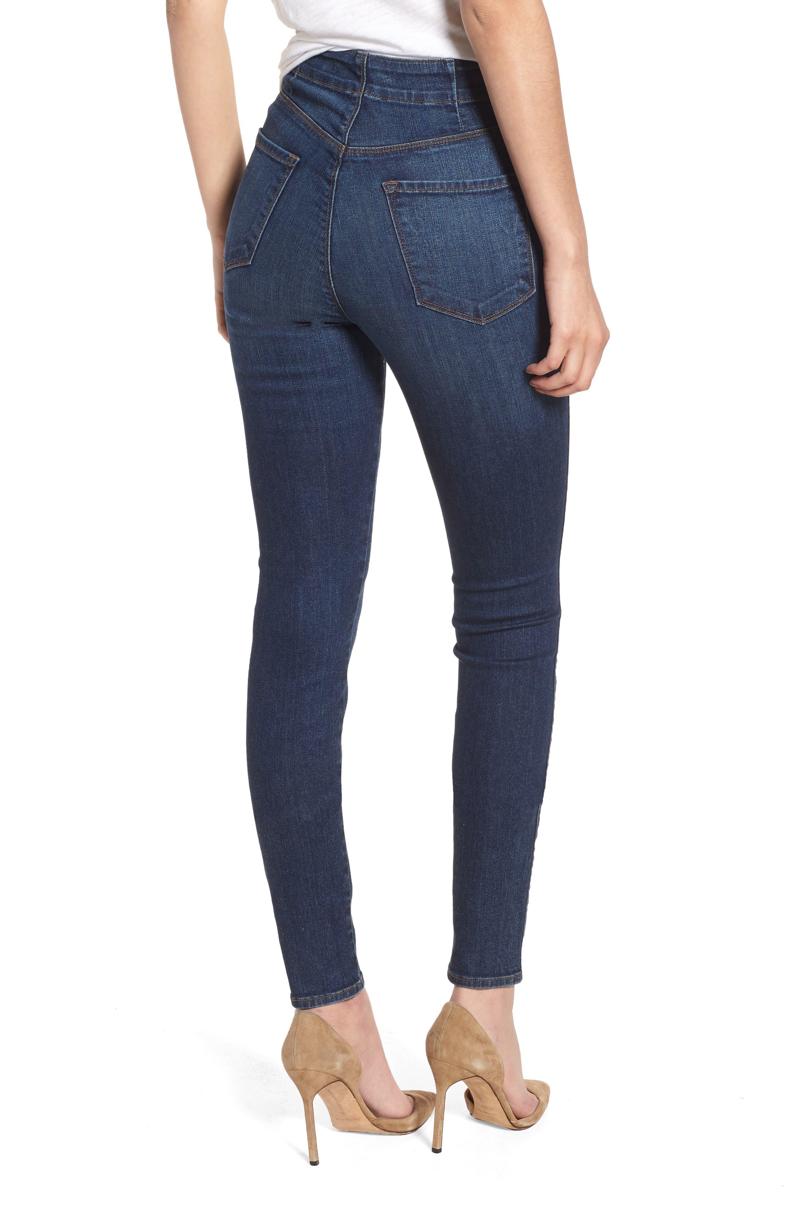 Natasha Sky High High Waist Skinny Jeans,                             Alternate thumbnail 2, color,                             Revival
