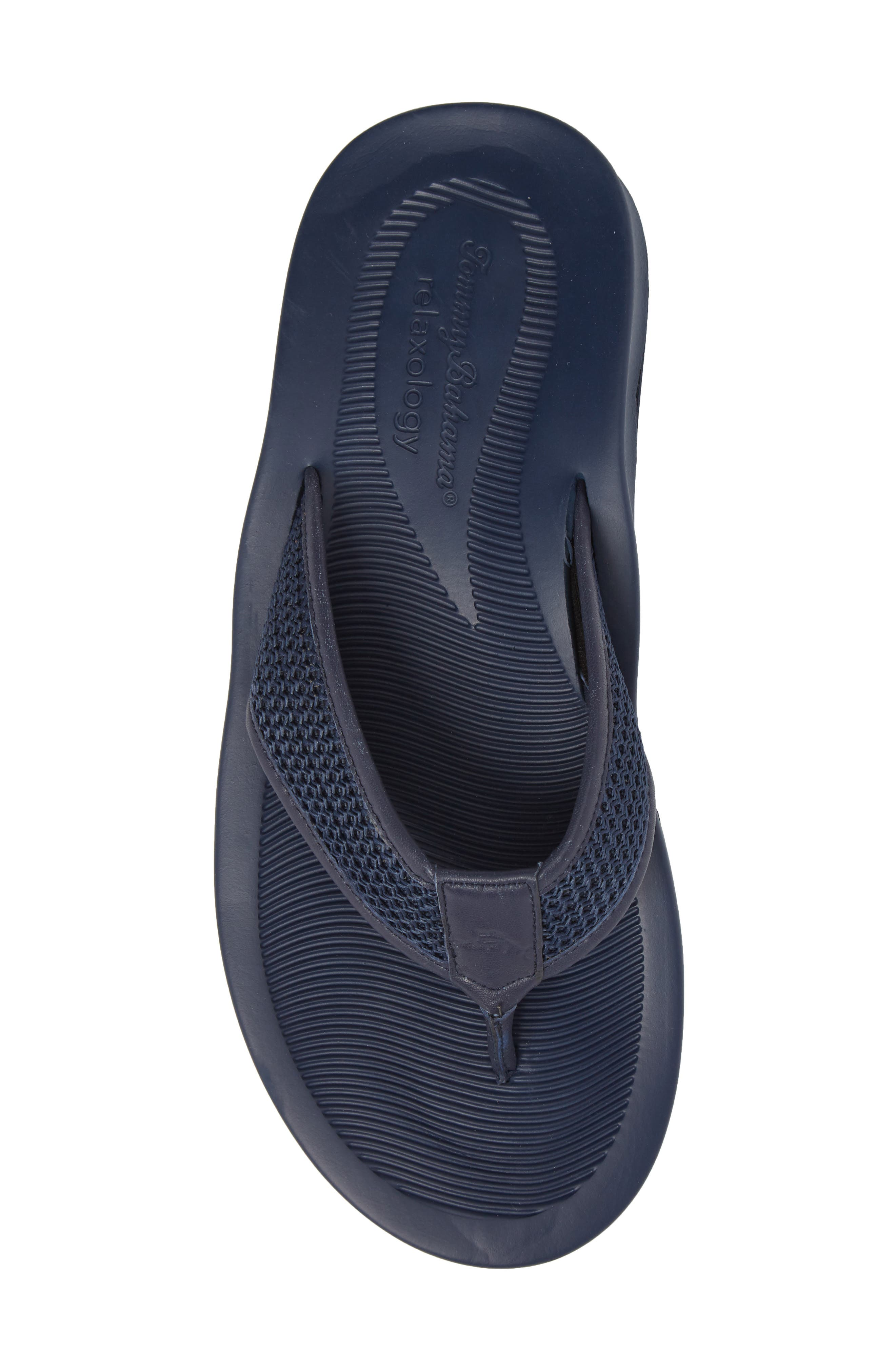 Shallows Edge Mesh Flip Flop,                             Alternate thumbnail 5, color,                             Navy Mesh/ Leather