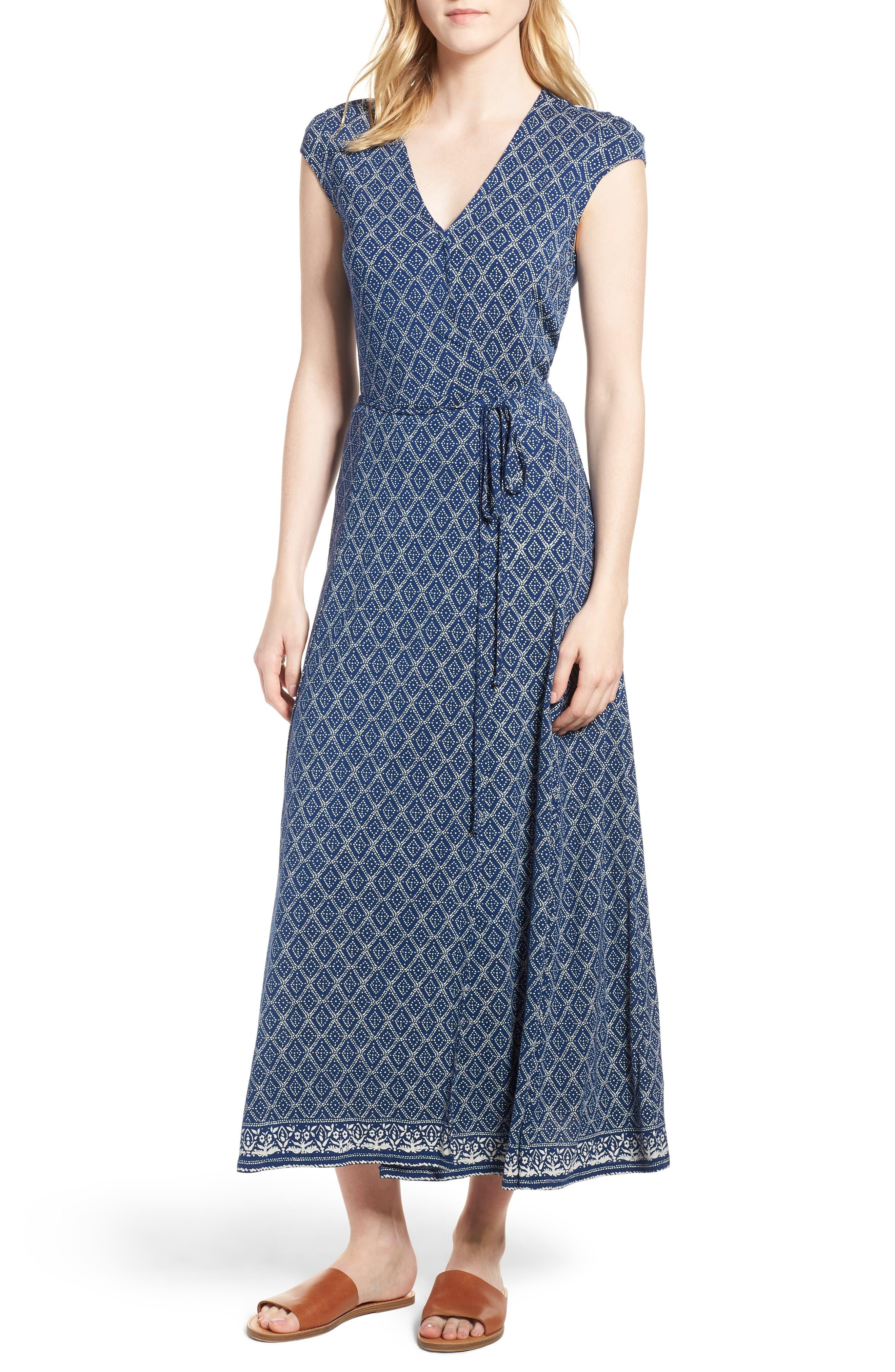 Lucky Border Print Maxi Dress,                         Main,                         color, Multi