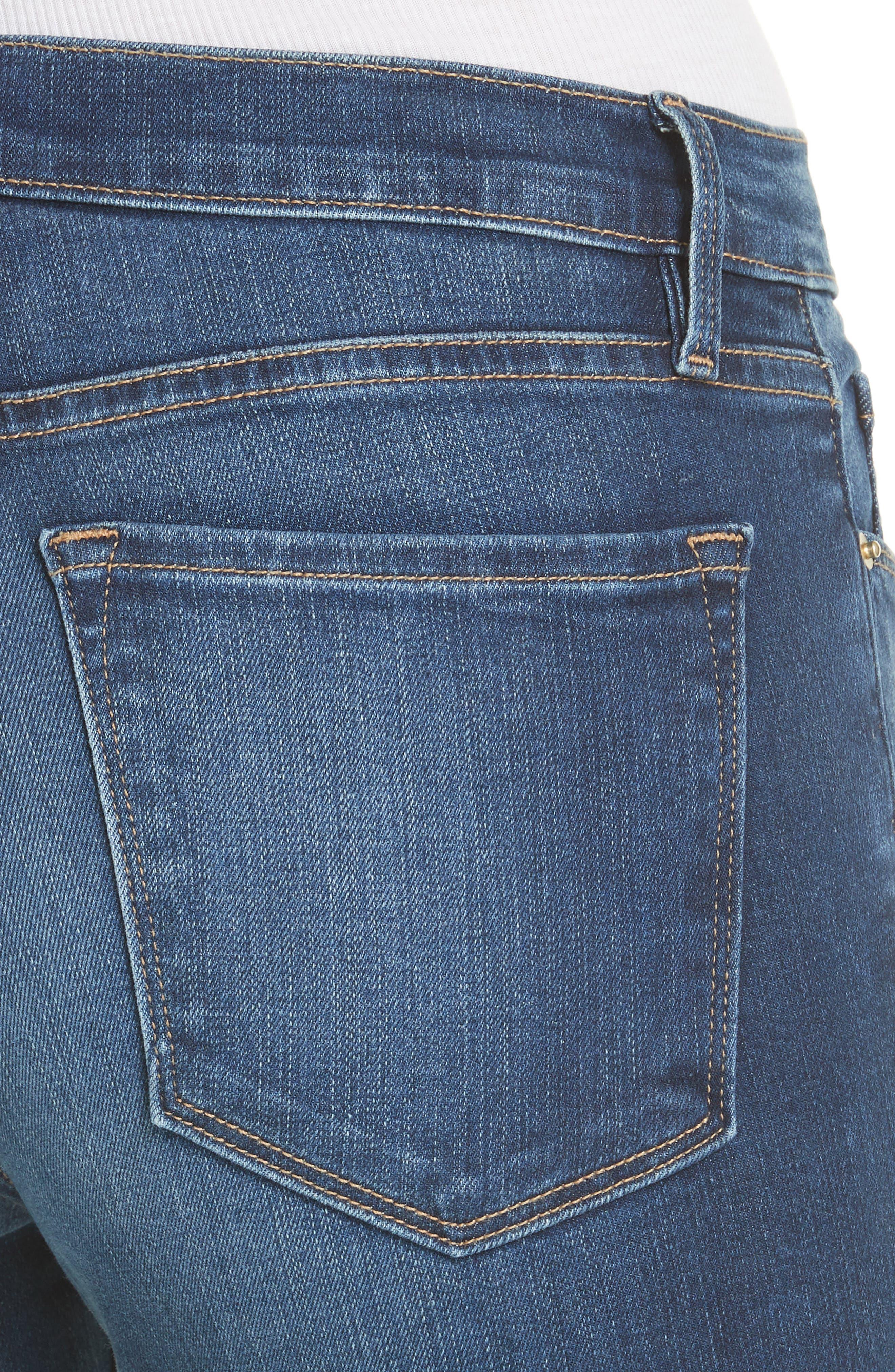 Le Skinny de Jeanne Raw Hem Crop Jeans,                             Alternate thumbnail 4, color,                             Cobbert Exclusive