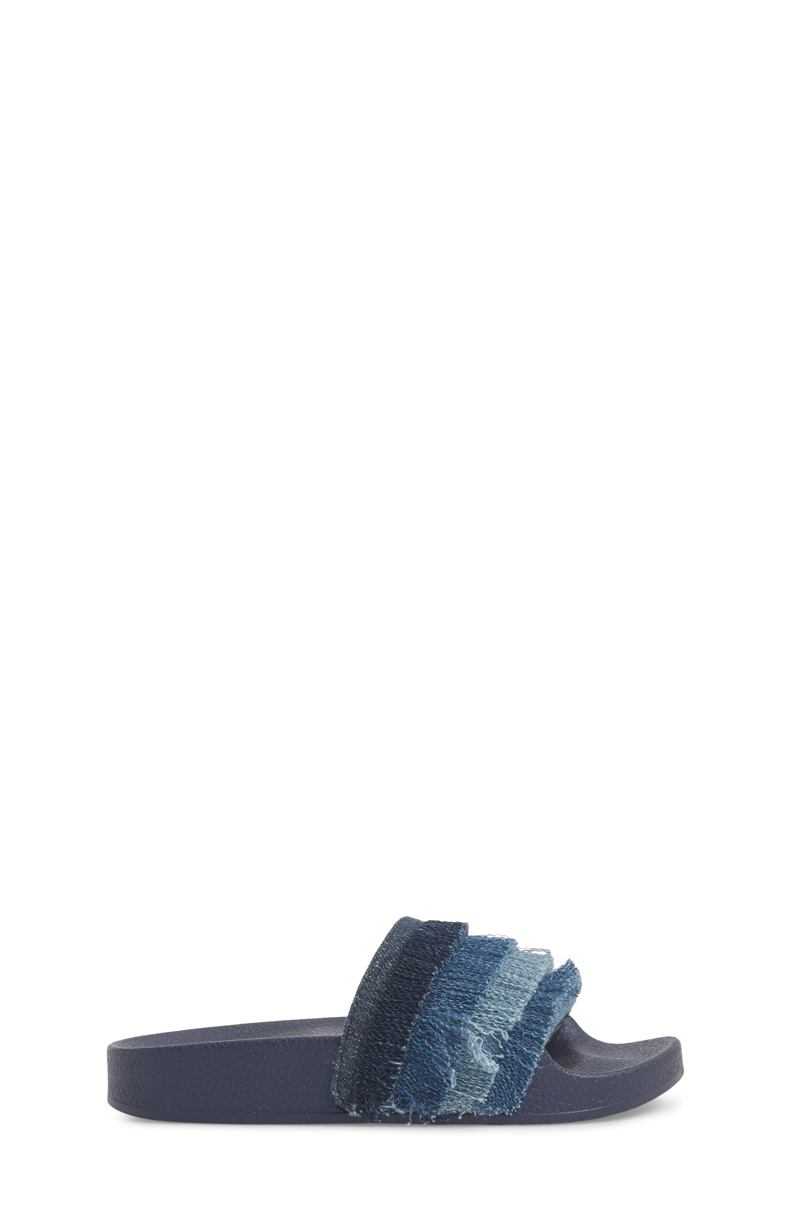 Reaction Kenneth Cole Shower Fray Slide Sandal,                             Alternate thumbnail 3, color,                             Denim