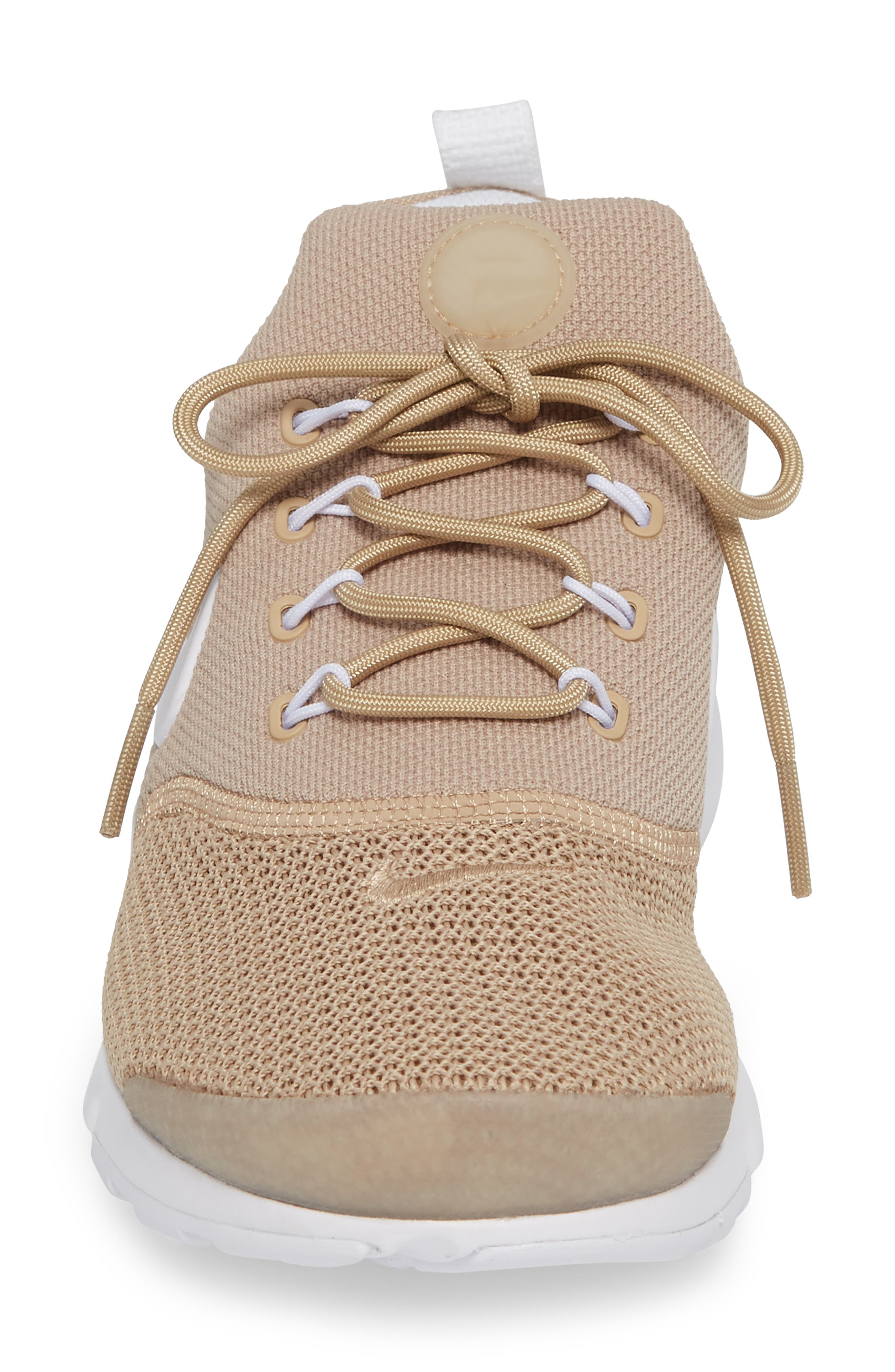 Presto Fly Sneaker,                             Alternate thumbnail 3, color,                             Sand/ White