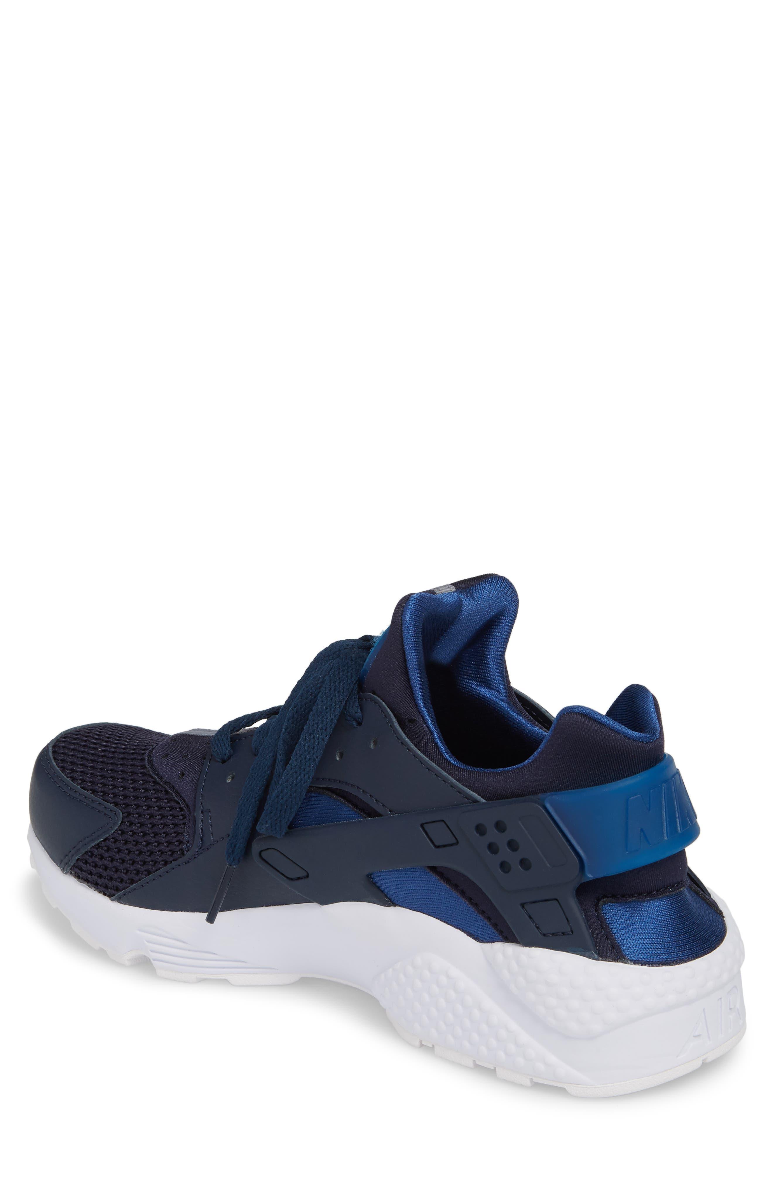 'Air Huarache' Sneaker,                             Alternate thumbnail 2, color,                             Obsidian/ Gym Blue