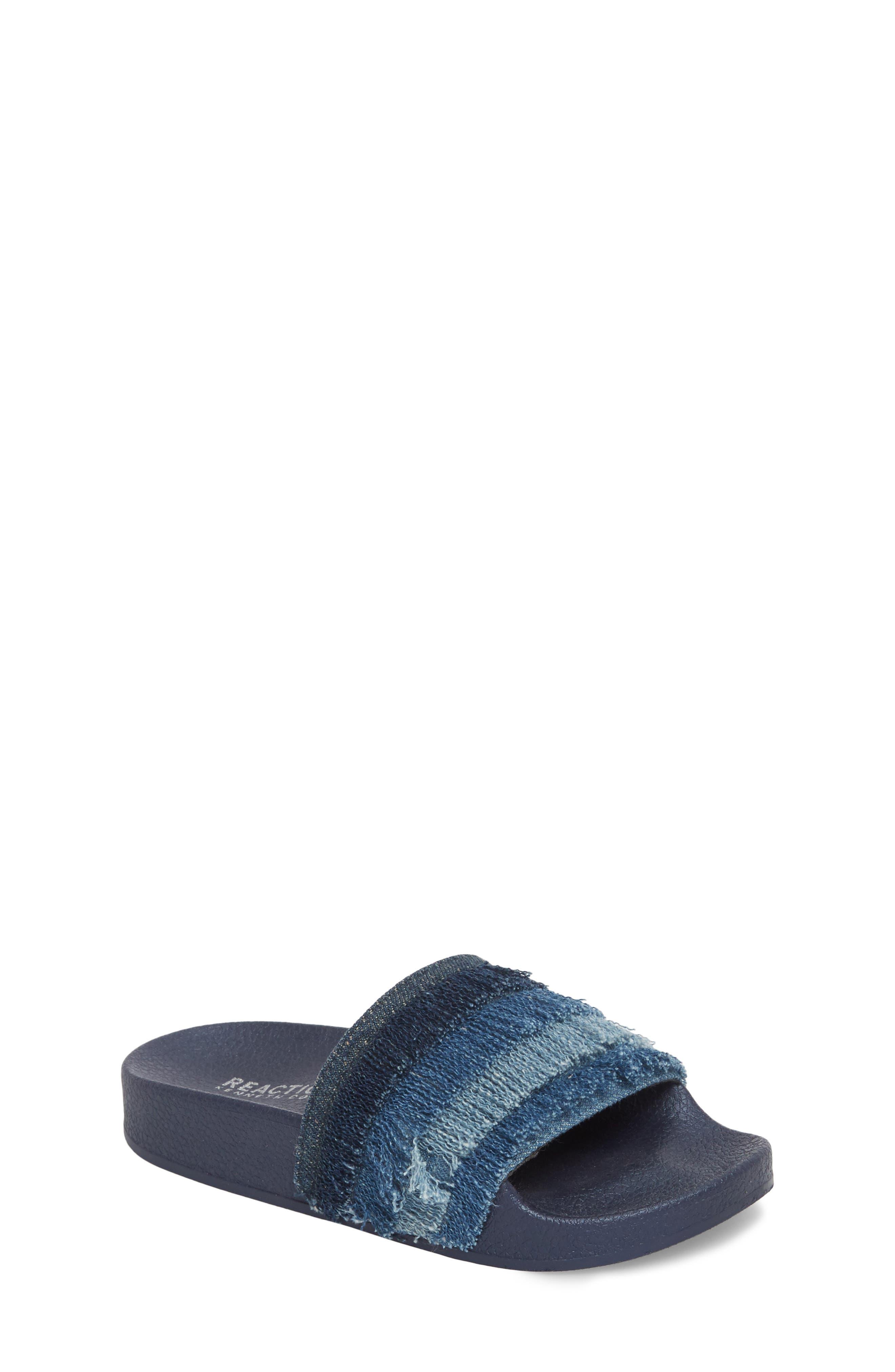 Reaction Kenneth Cole Shower Fray Slide Sandal,                         Main,                         color, Denim