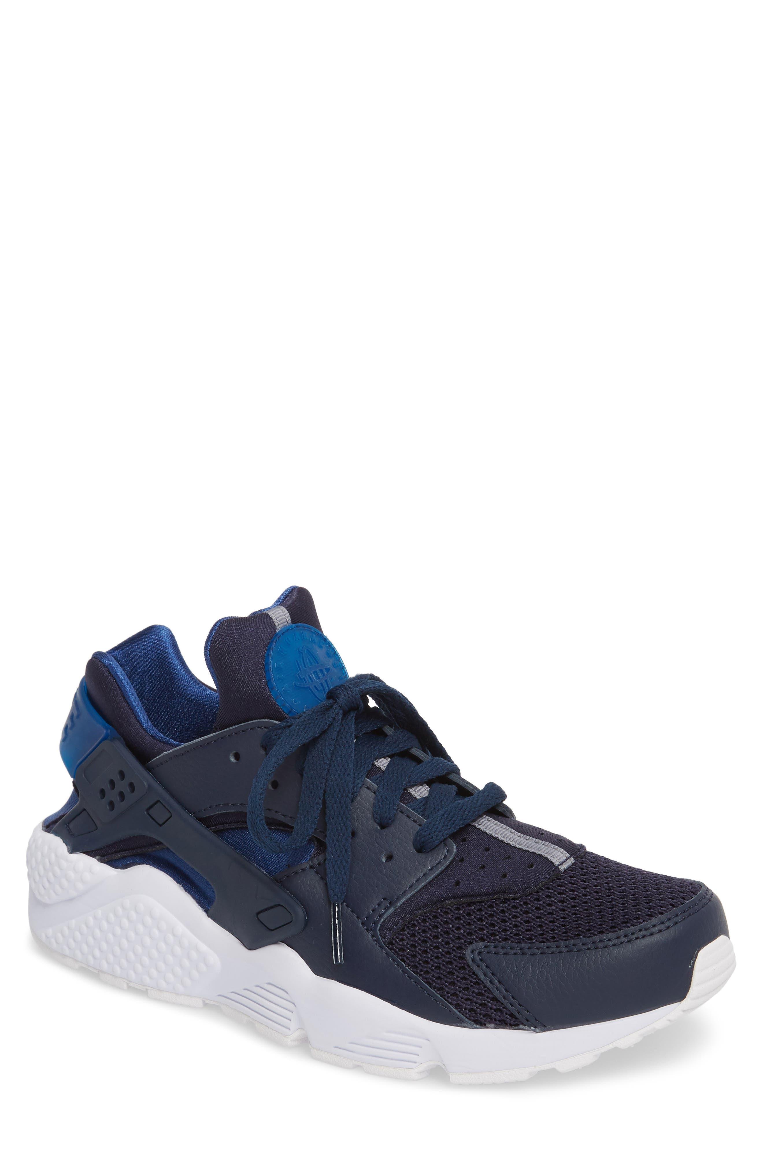 'Air Huarache' Sneaker,                             Main thumbnail 1, color,                             Obsidian/ Gym Blue