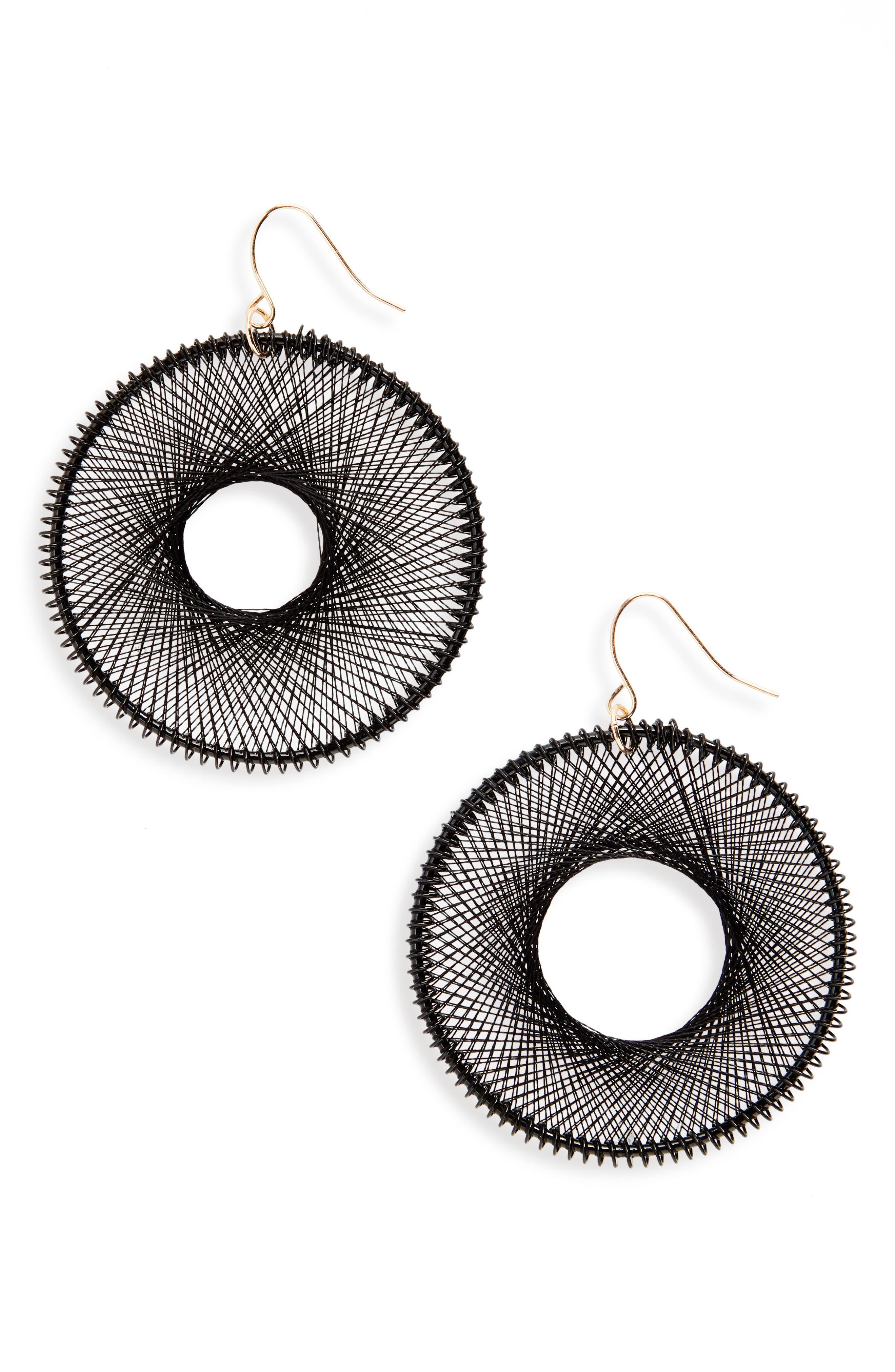 Natasha Silk Thread Hoop Earrings
