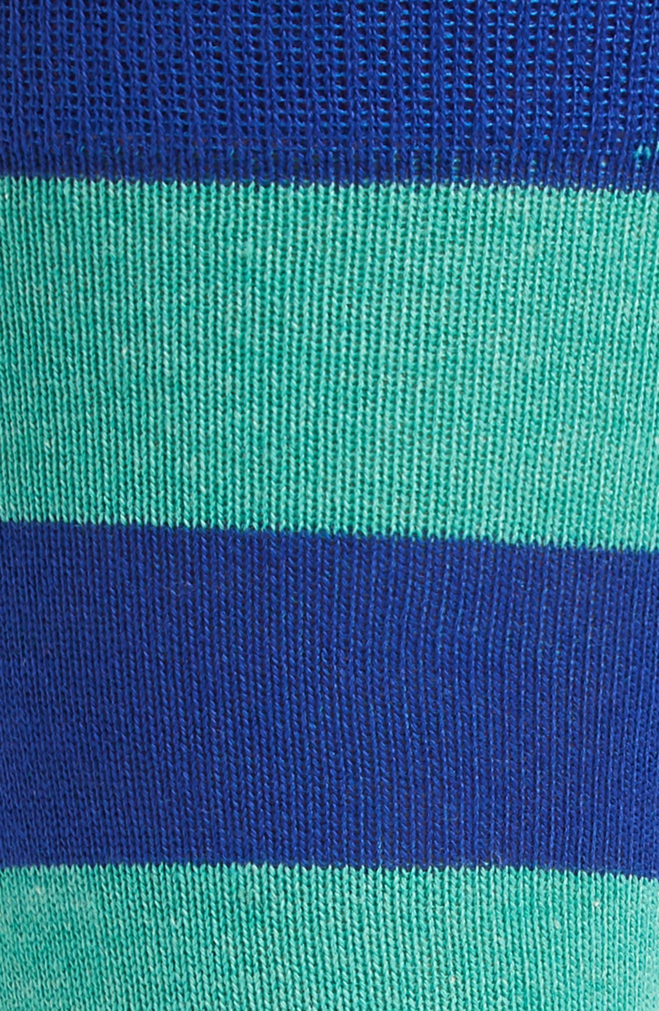 Stripe Socks,                             Alternate thumbnail 2, color,                             Green/ Blue