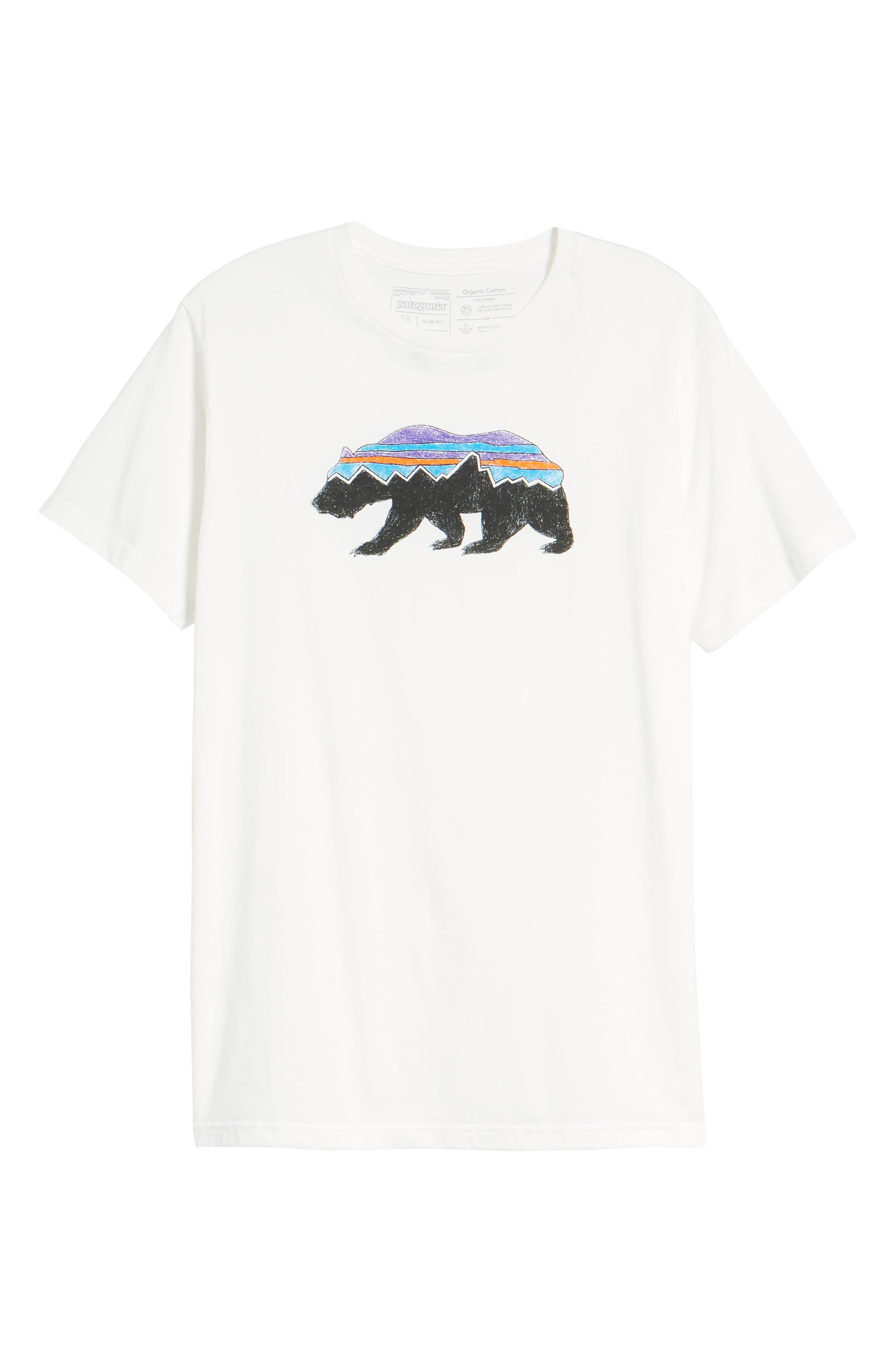 Fitz Roy Bear Crewneck T-Shirt,                             Alternate thumbnail 6, color,                             White