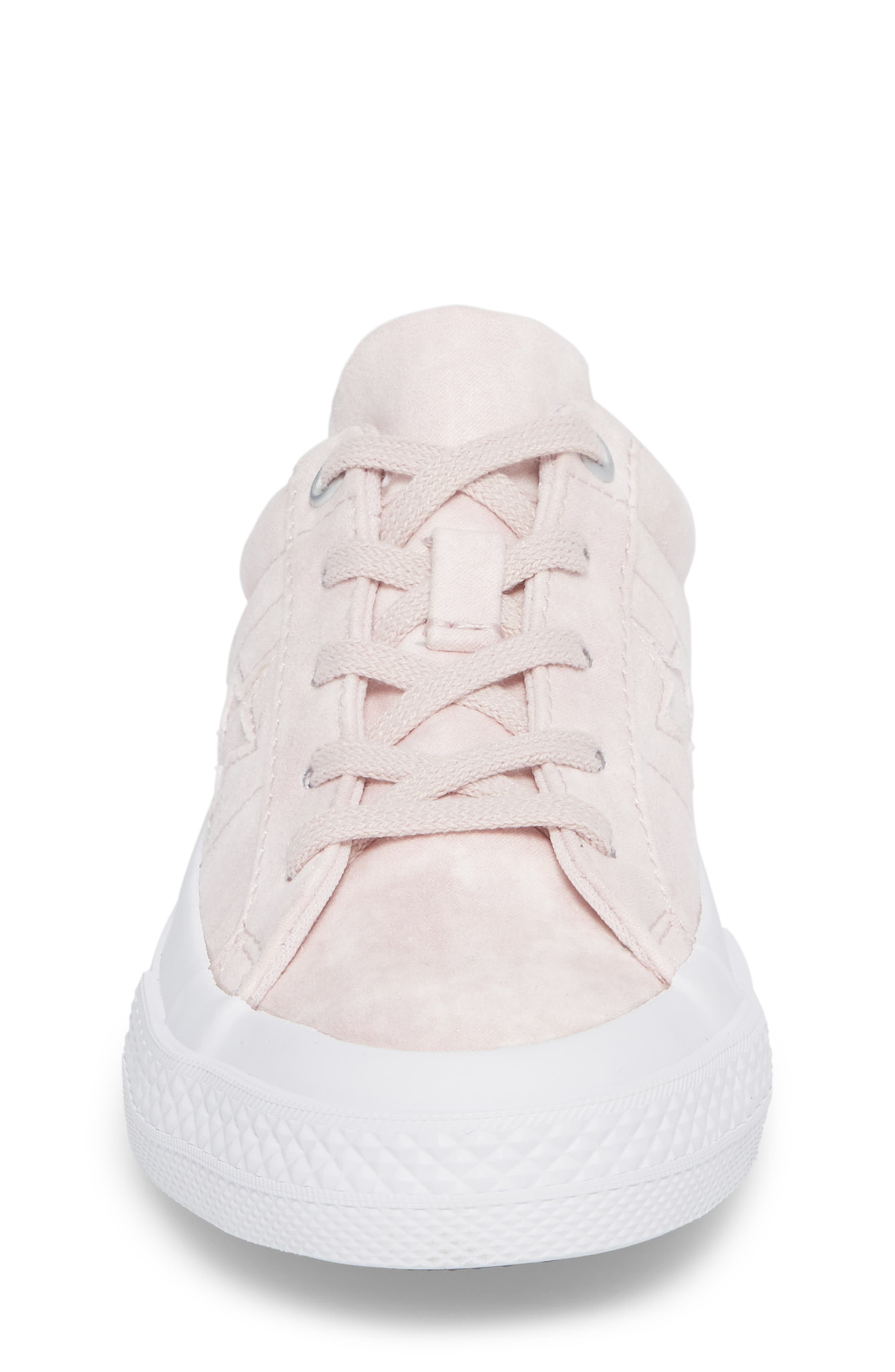 Chuck Taylor<sup>®</sup> All Star<sup>®</sup> Star Sneaker,                             Alternate thumbnail 4, color,                             Barely Rose