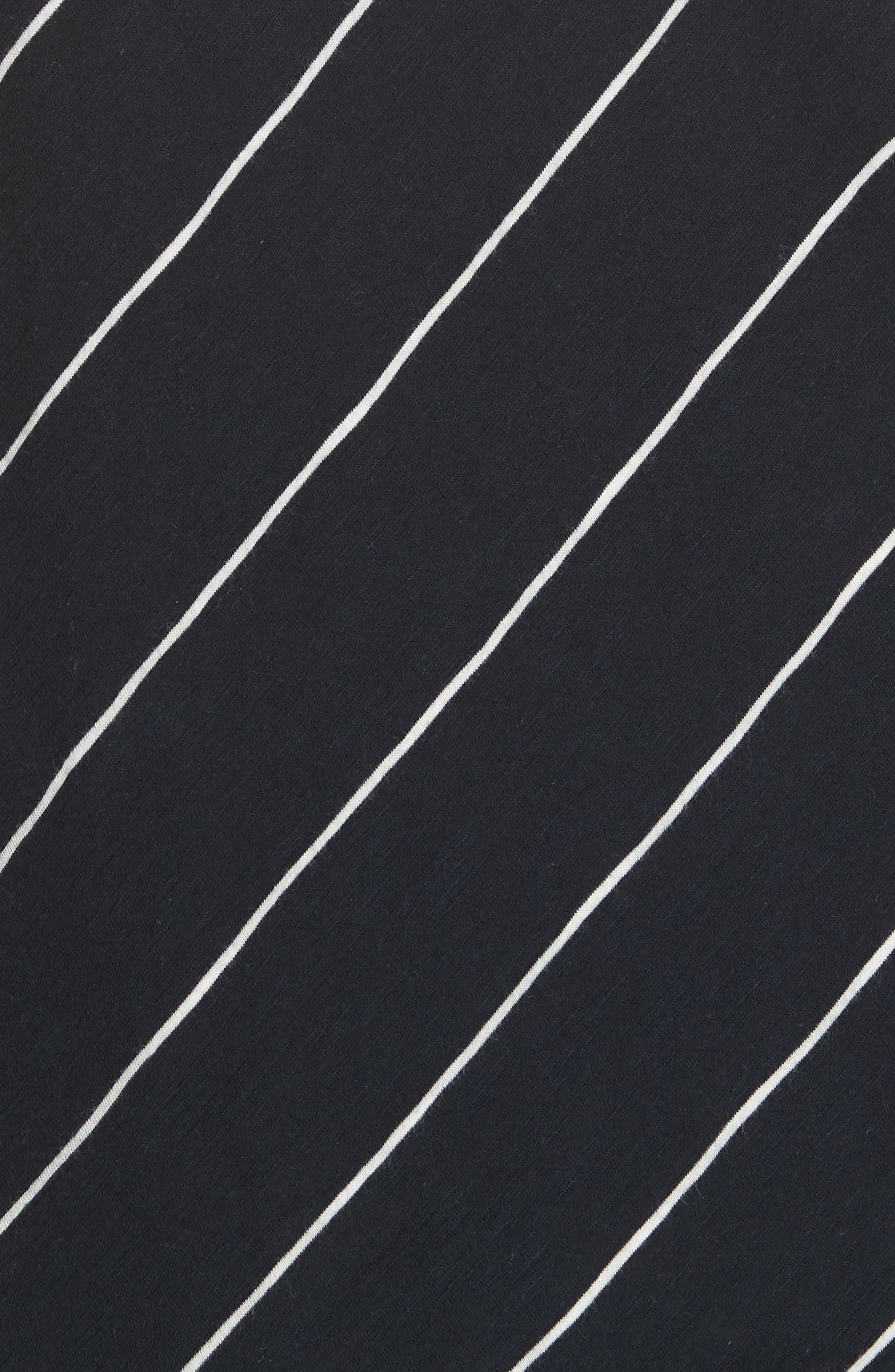 Skinny Stripe Pima Cotton Top,                             Alternate thumbnail 5, color,                             Coastal/ Vanilla