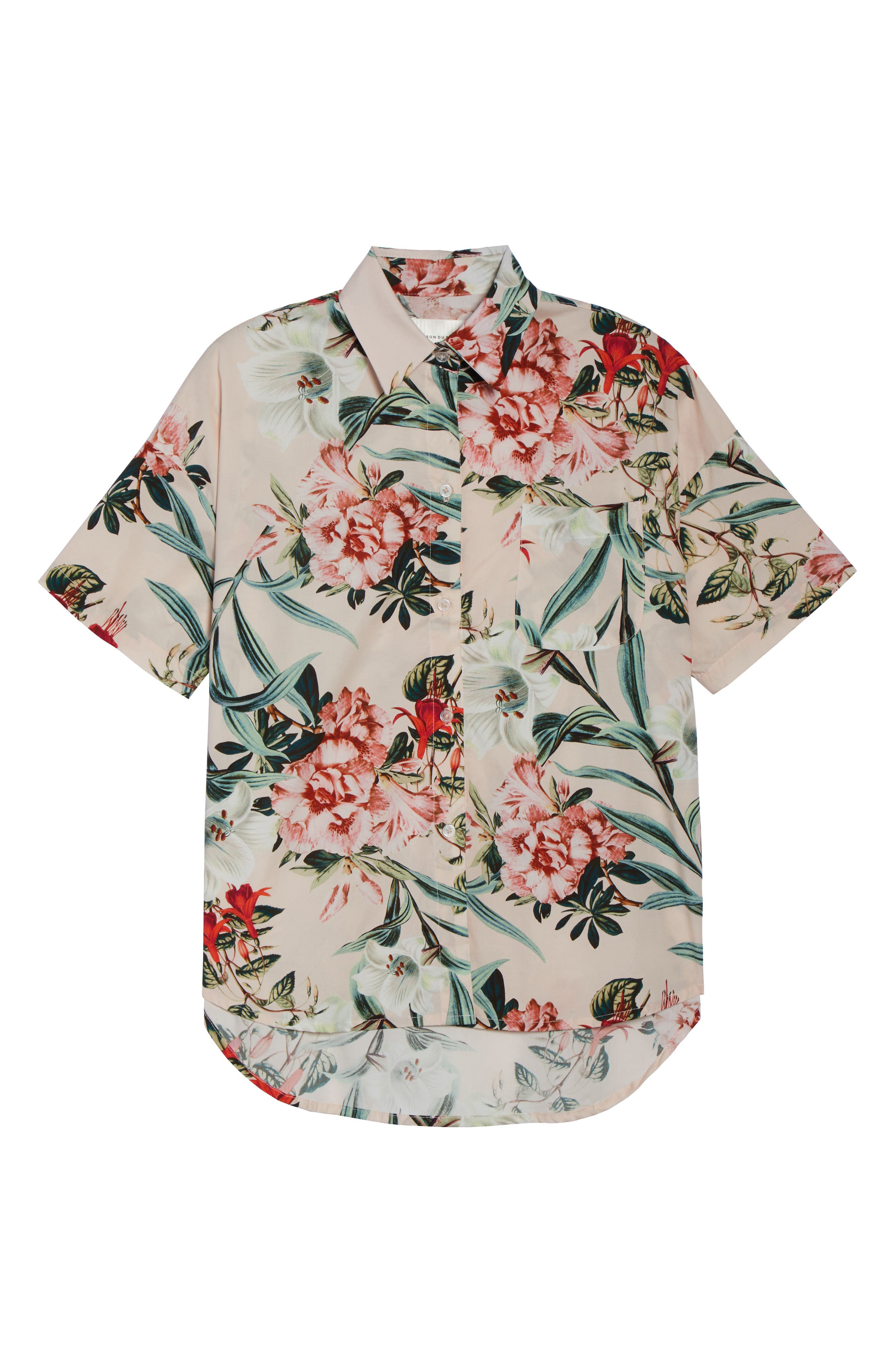 Gigi Stripe Pajama Top,                             Alternate thumbnail 6, color,                             Lt. Pink Floral