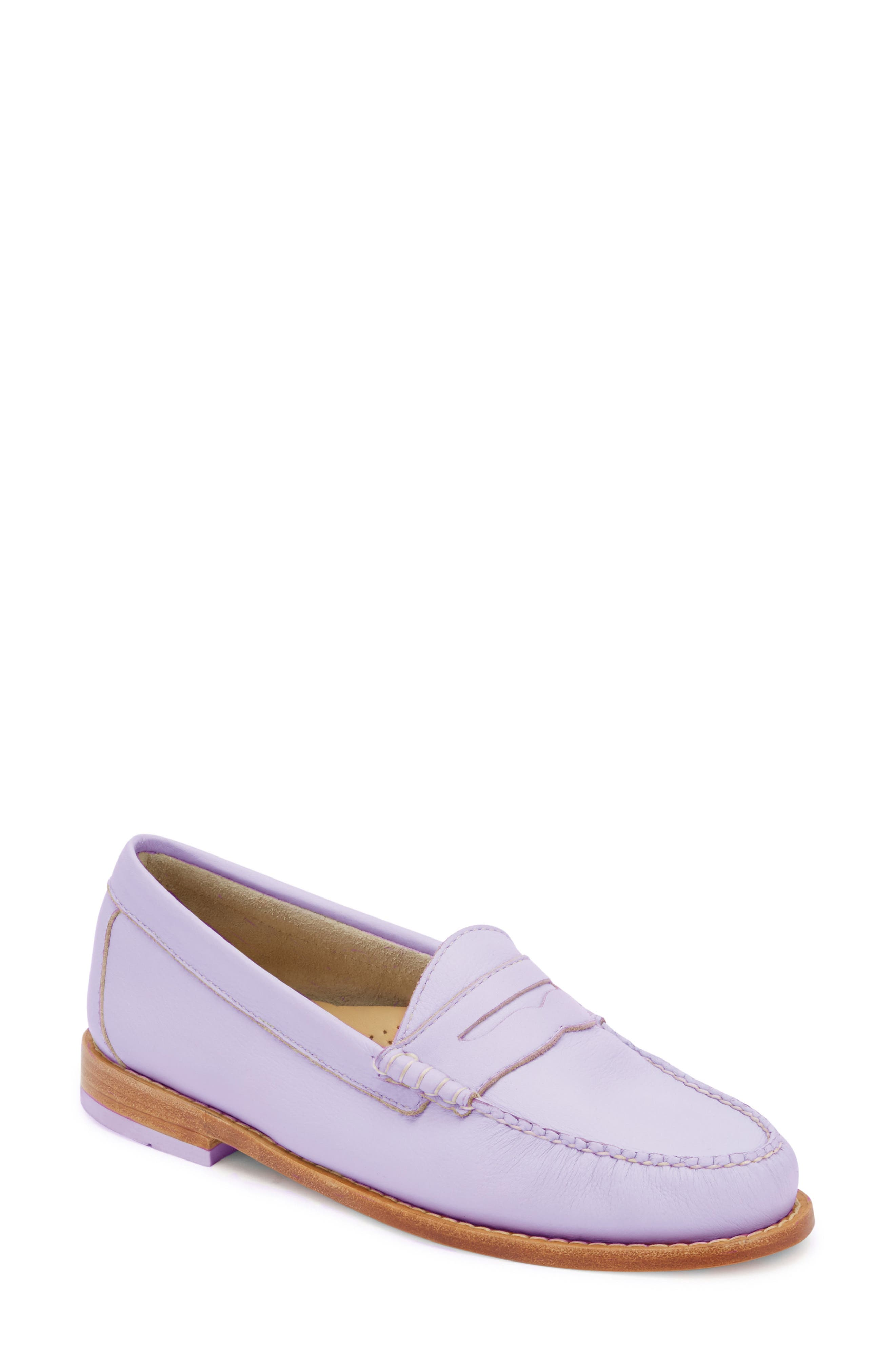 'Whitney' Loafer,                             Main thumbnail 1, color,                             Lilac Leather