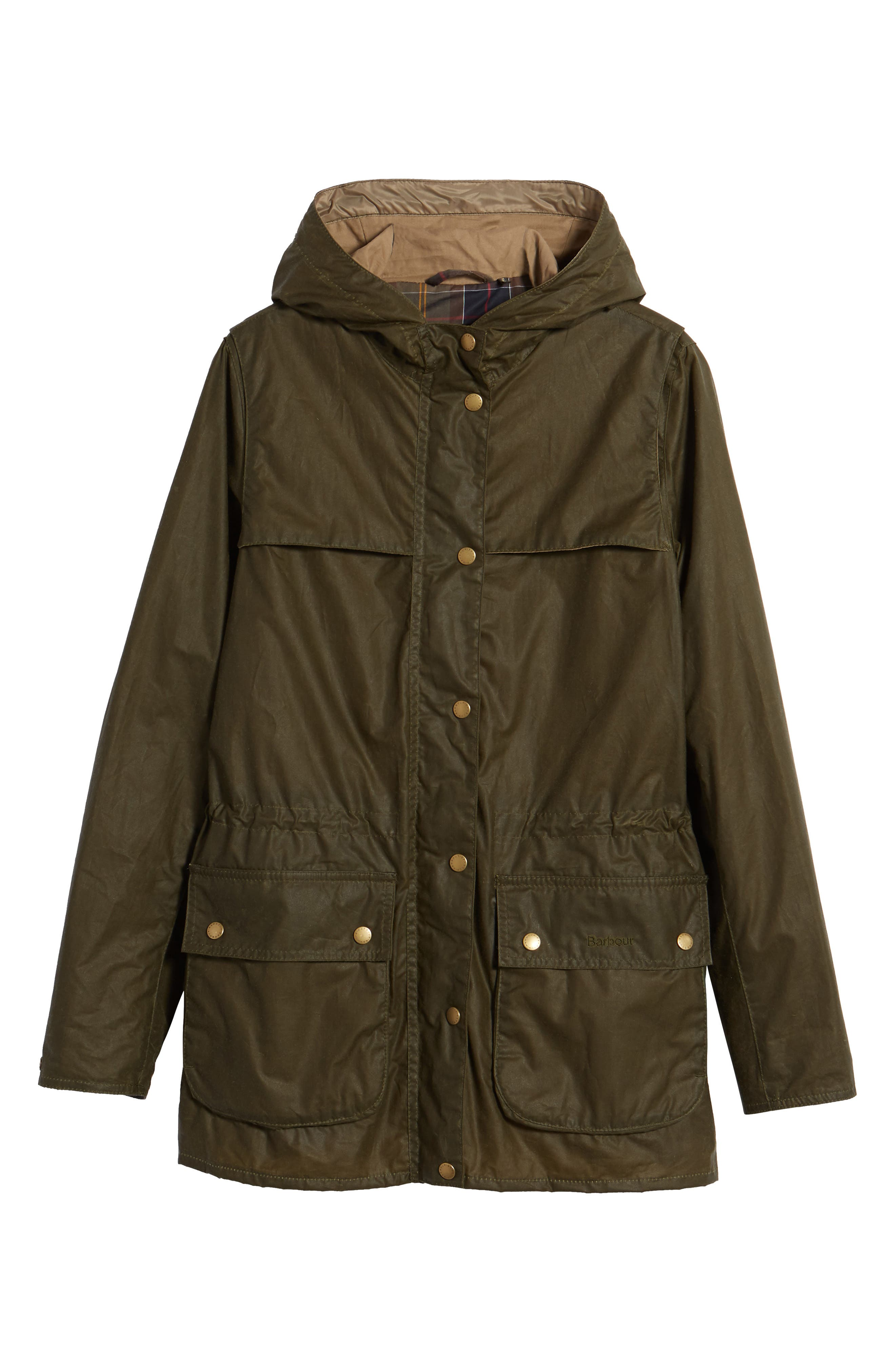 Durham Lightweight Wax Cotton Jacket,                             Alternate thumbnail 7, color,                             Archive Olive
