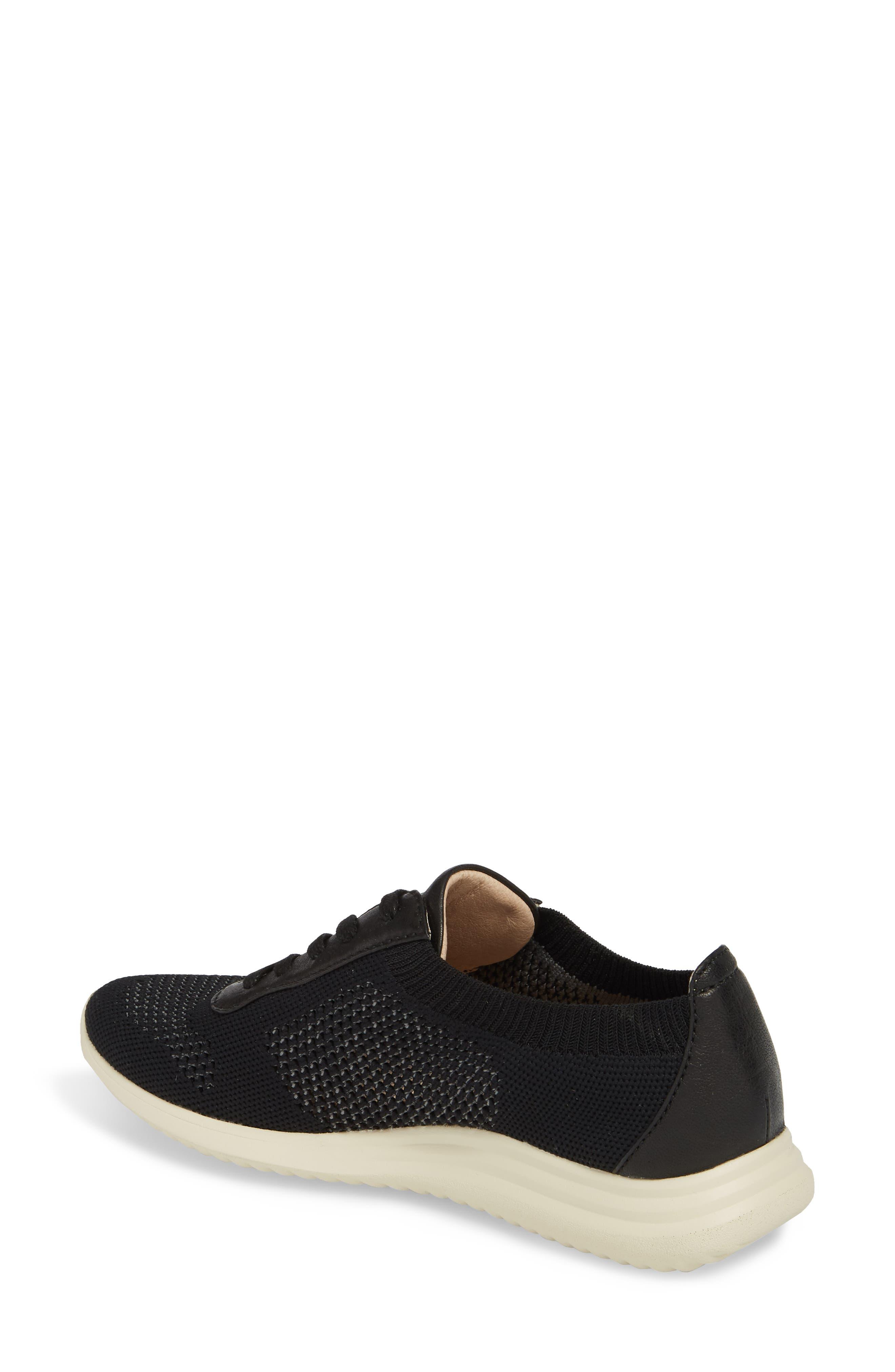 Novella Sneaker,                             Alternate thumbnail 2, color,                             Black Fabric