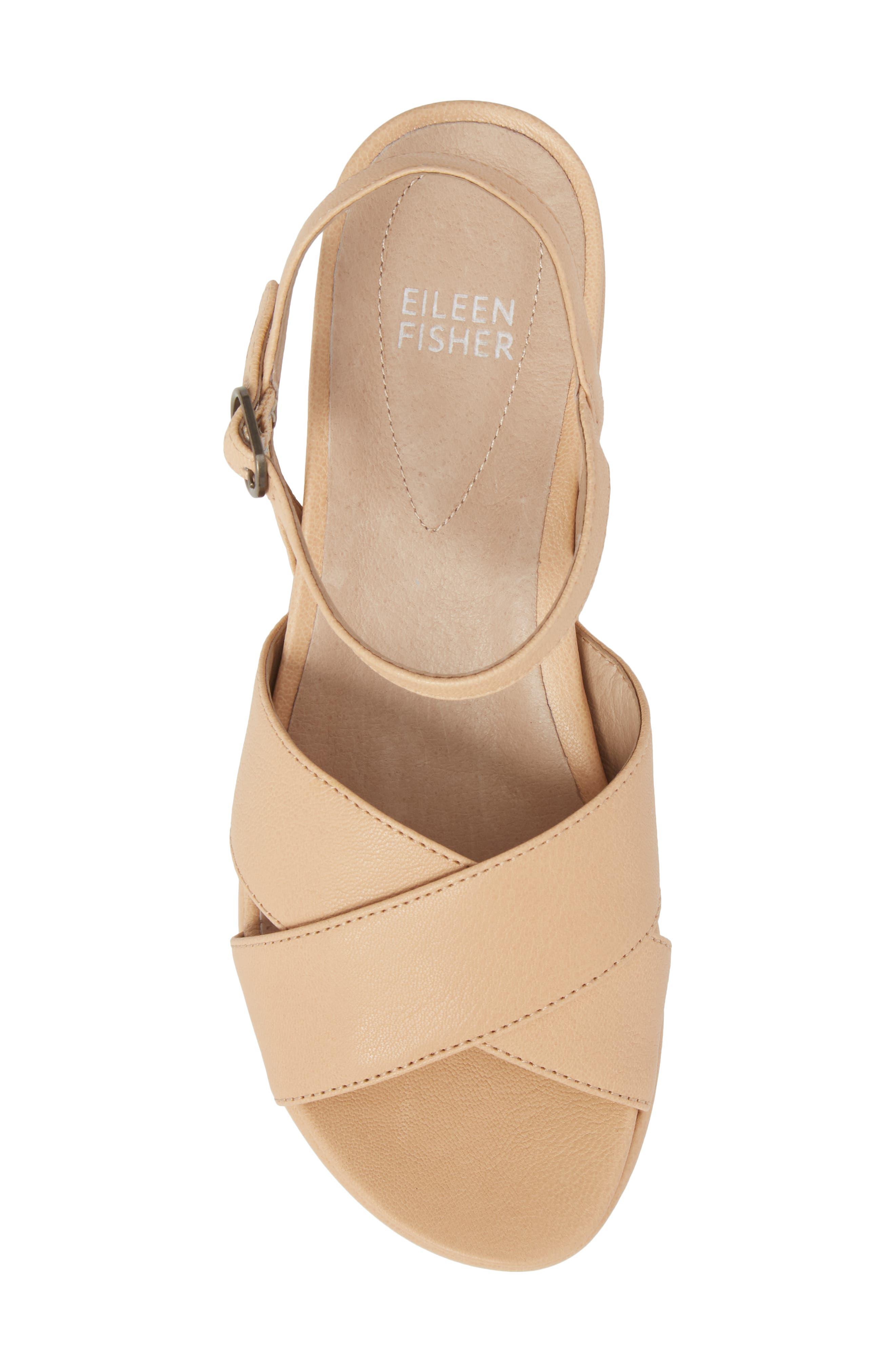 Juno Platform Sandal,                             Alternate thumbnail 5, color,                             Desert Leather