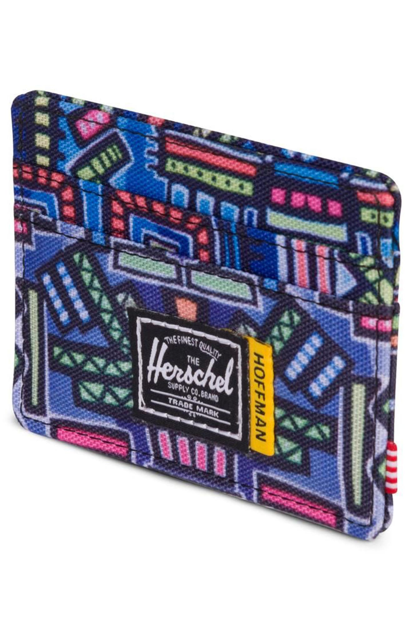 Hoffman Charlie Card Case,                             Alternate thumbnail 2, color,                             Abstract Geo