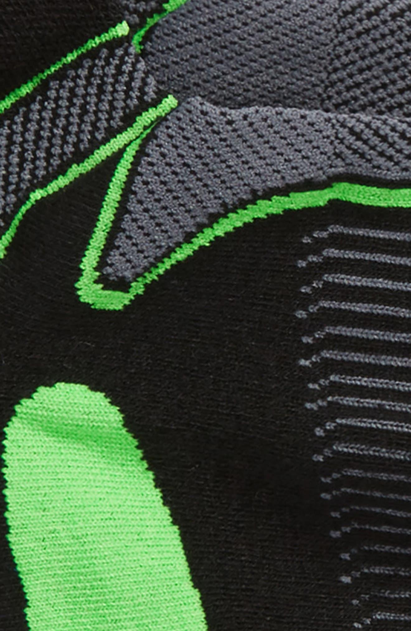 Ultra Light Socks,                             Alternate thumbnail 2, color,                             Black/ Lime