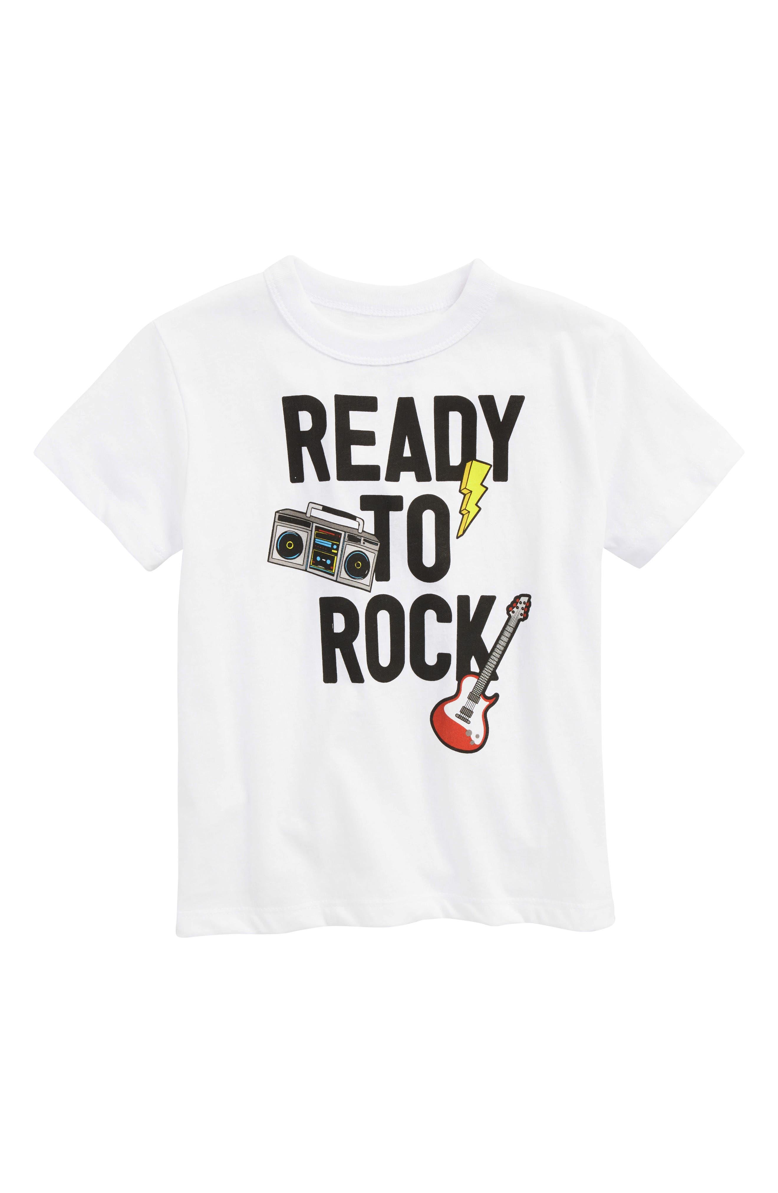 Ready to Rock T-Shirt,                             Main thumbnail 1, color,                             White